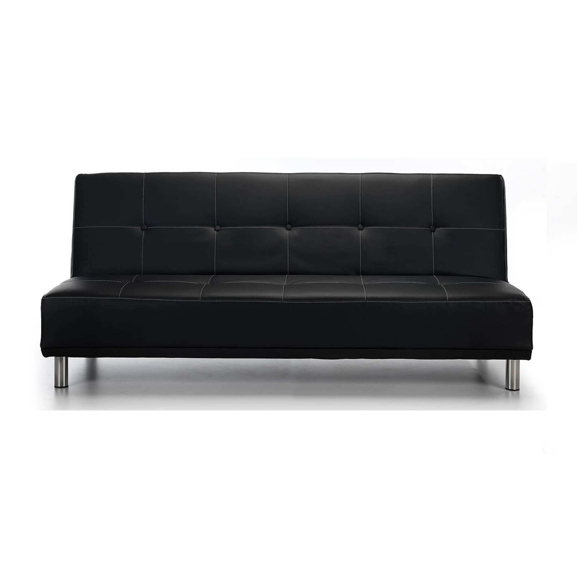 Photo of Duke faux leather sofa bed black