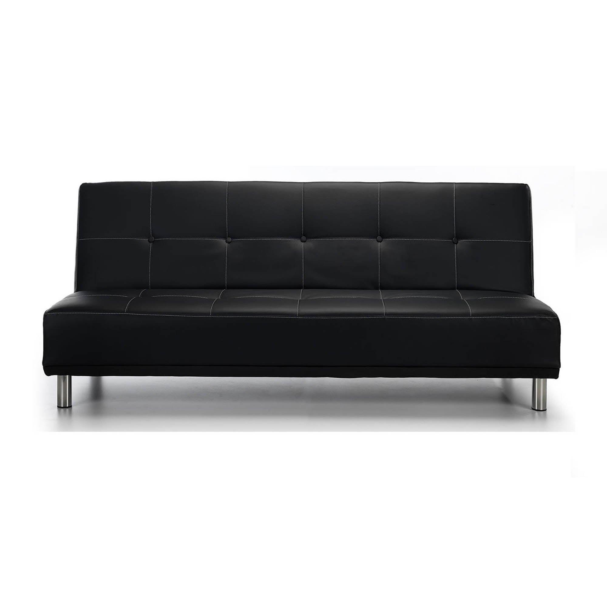 Photo of Duke faux leather sofa bed black