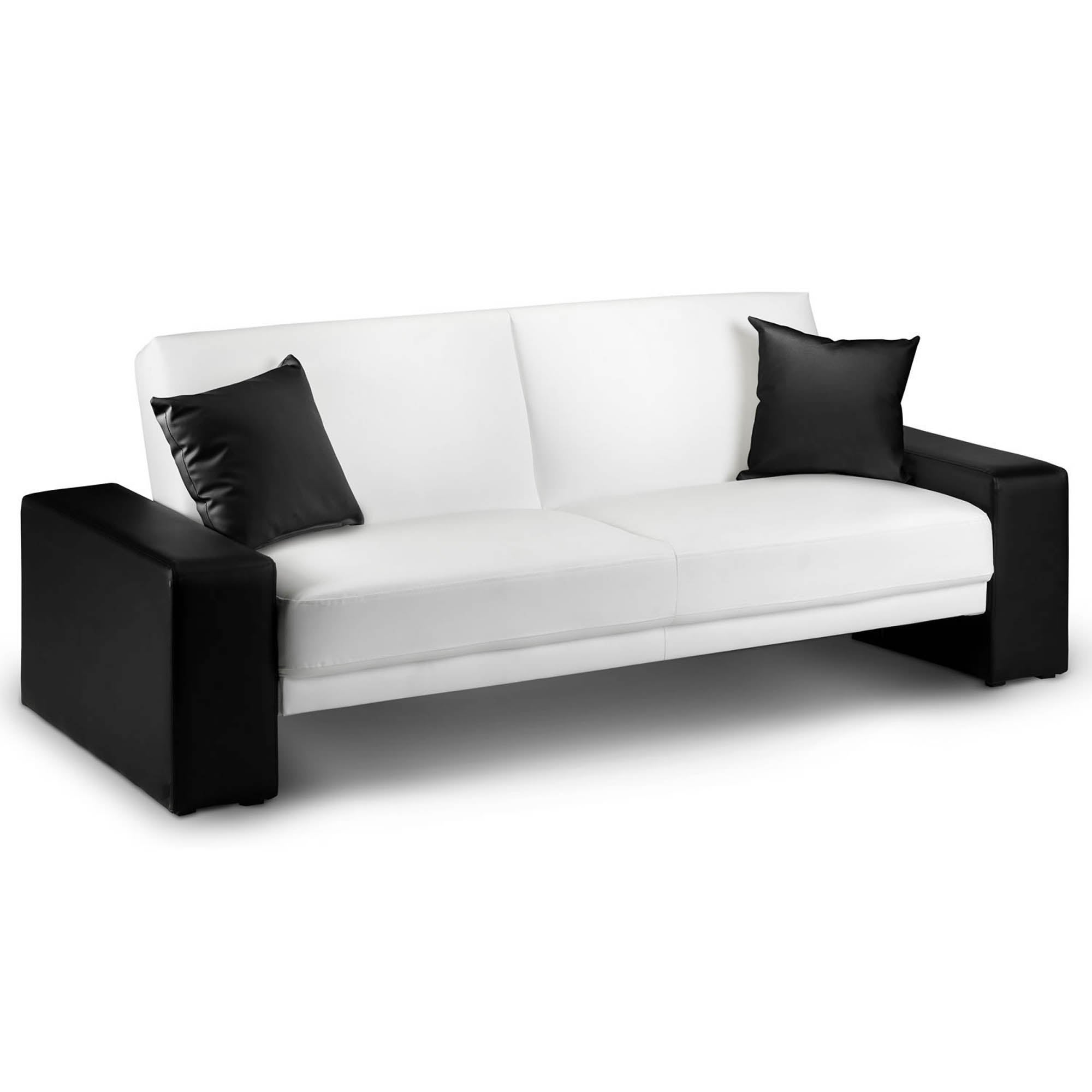 Photo of Cuba faux leather sofa bed black and white