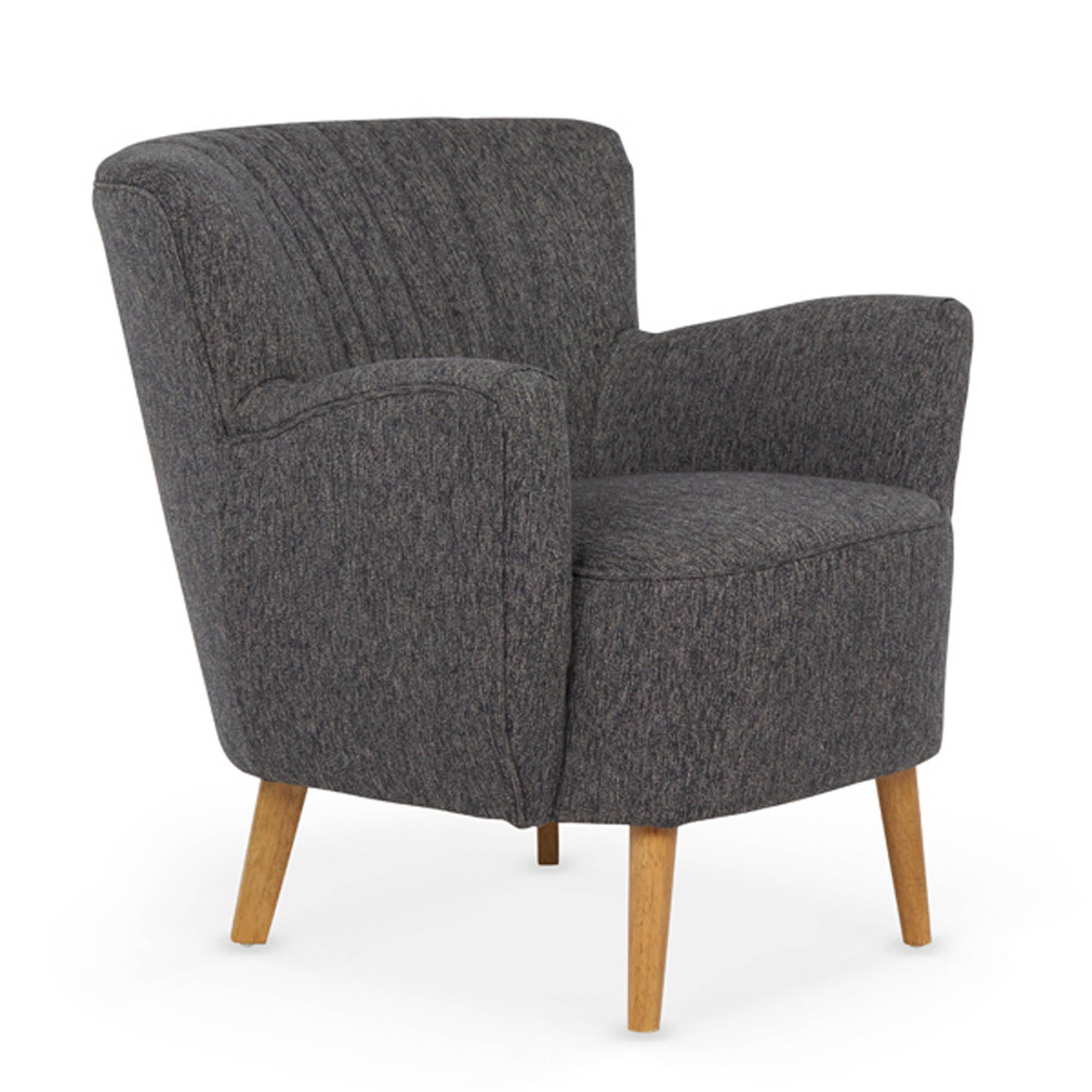 Alloa Charcoal Tub Chair Charcoal