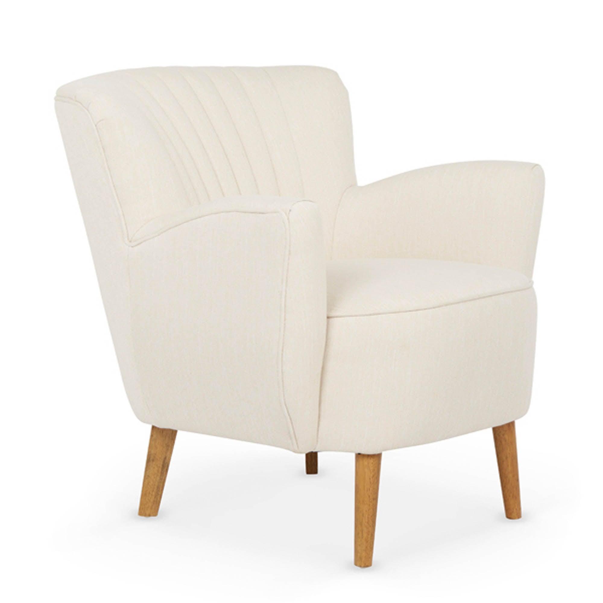 Alloa Soft Cream Tub Chair Cream (Natural)