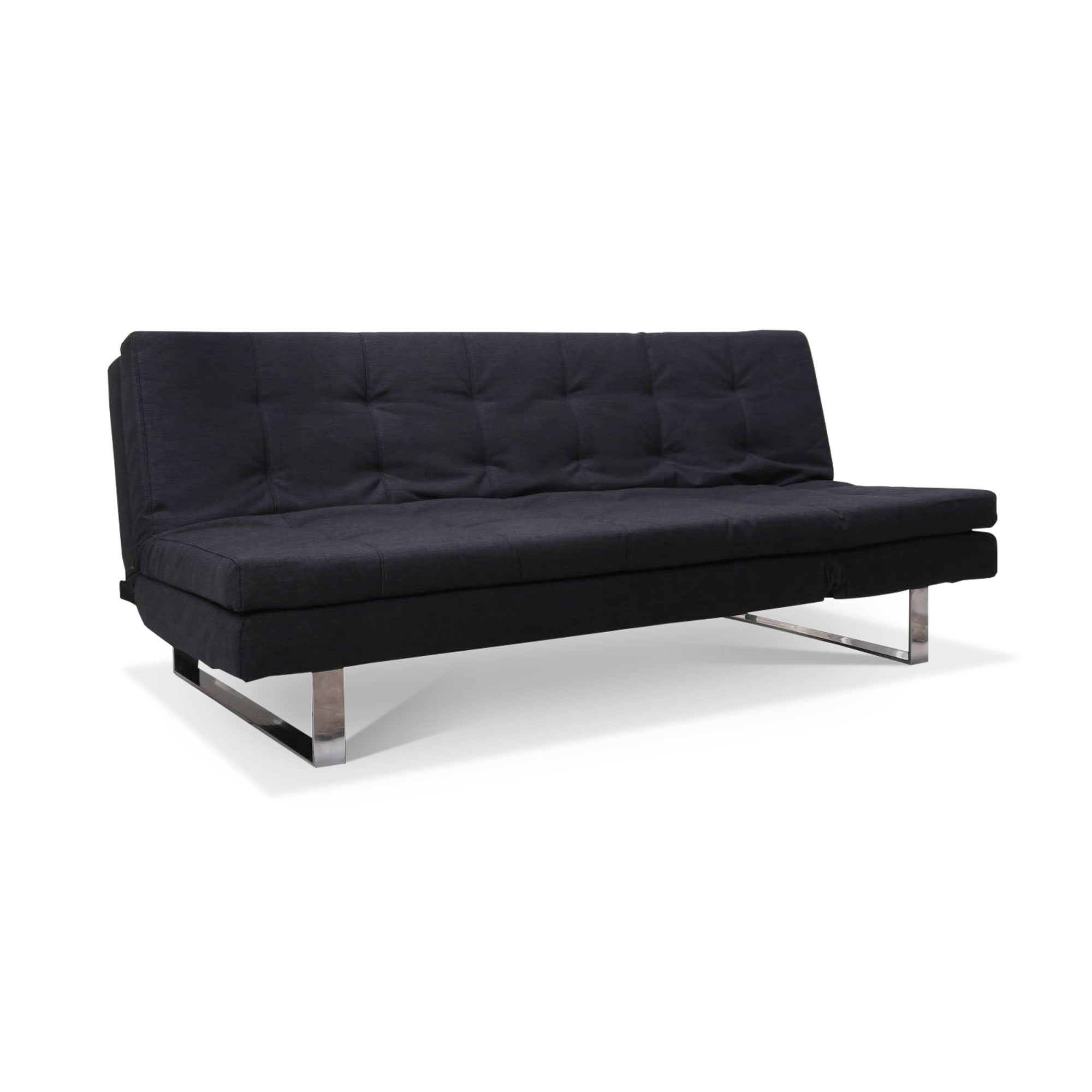 Photo of Nimes black fabric sofa bed grey