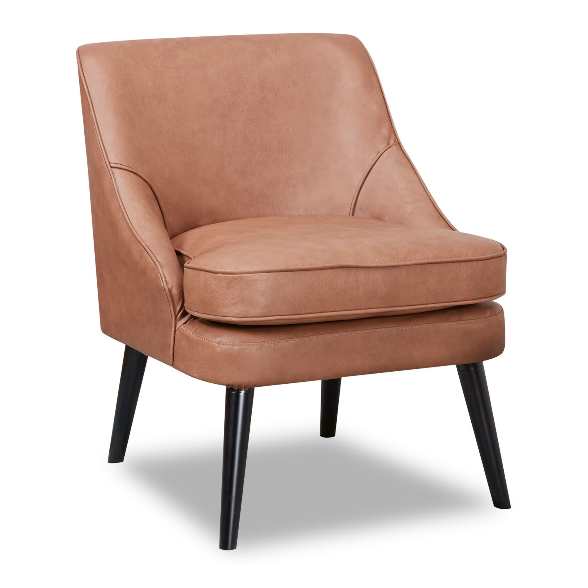 Photo of Crawford faux leather armchair brown