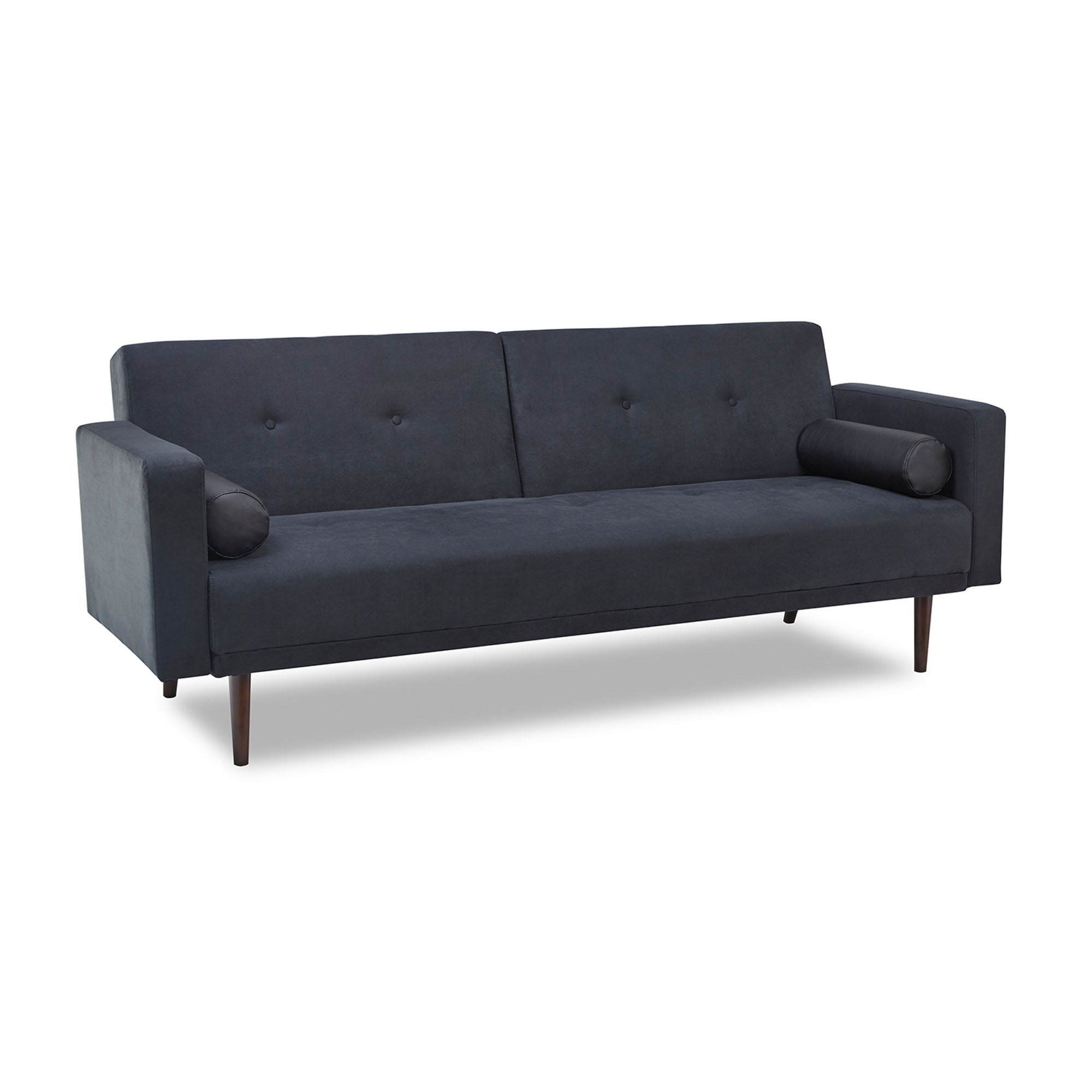 Photo of Sebastian fabric sofa bed black