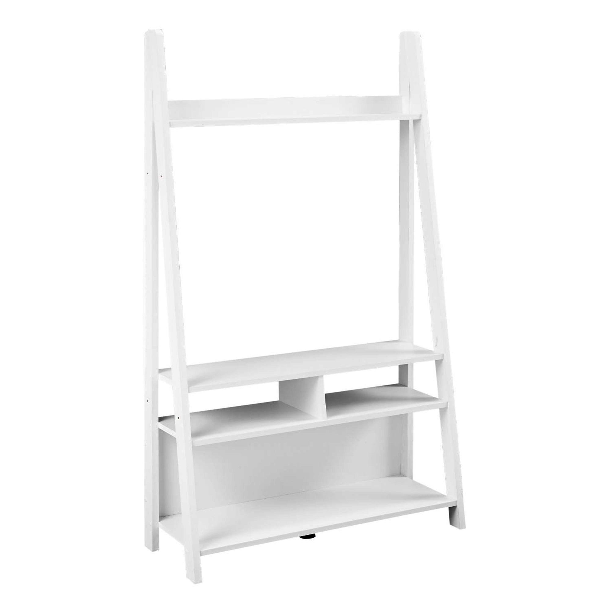 Tiva White Ladder TV Stand White