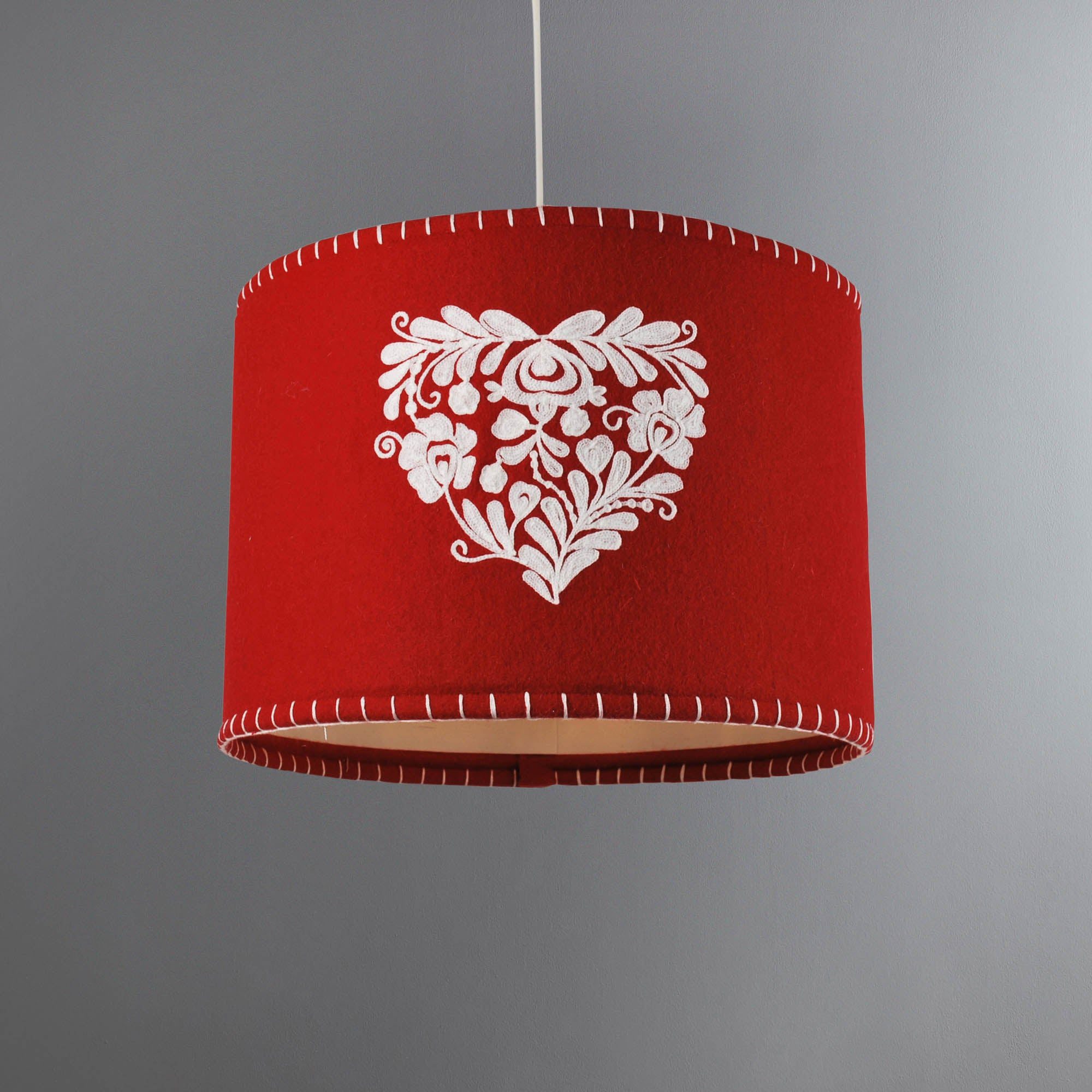 Photo of Jan constantine red fairisle light shade red