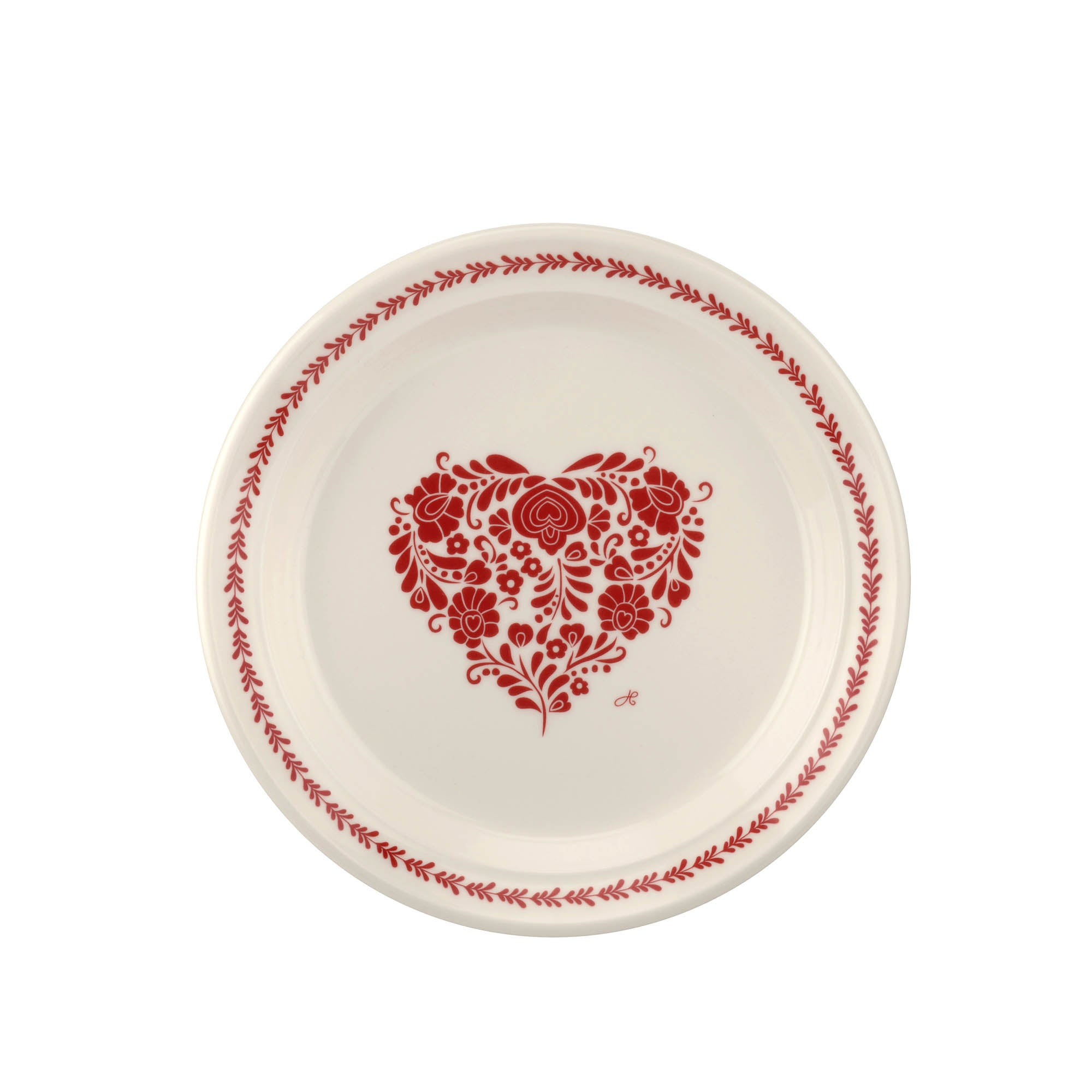 Photo of Jan constantine made by portmeirion heart red side plate red