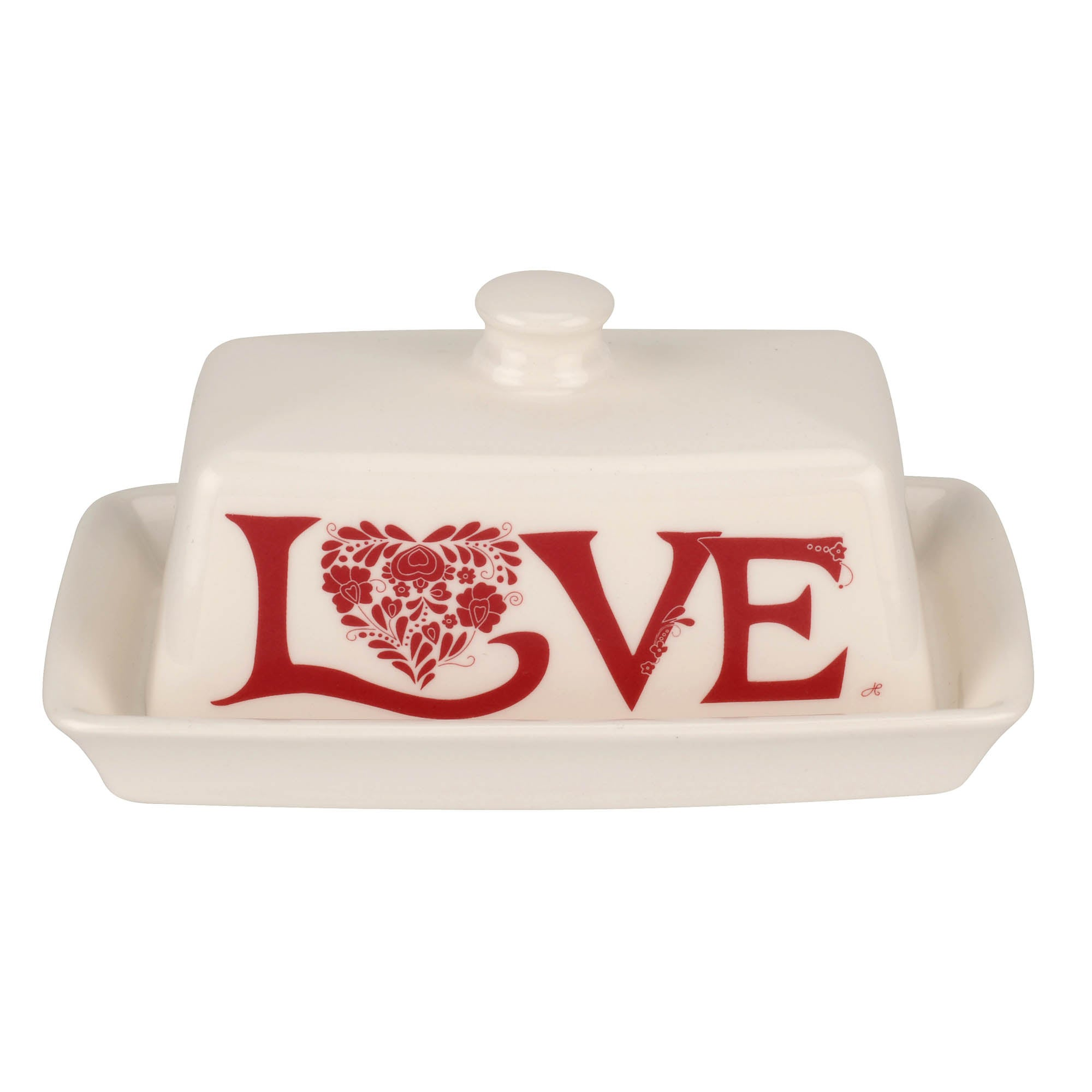 Photo of Jan constantine made by portmeirion love red butter dish red