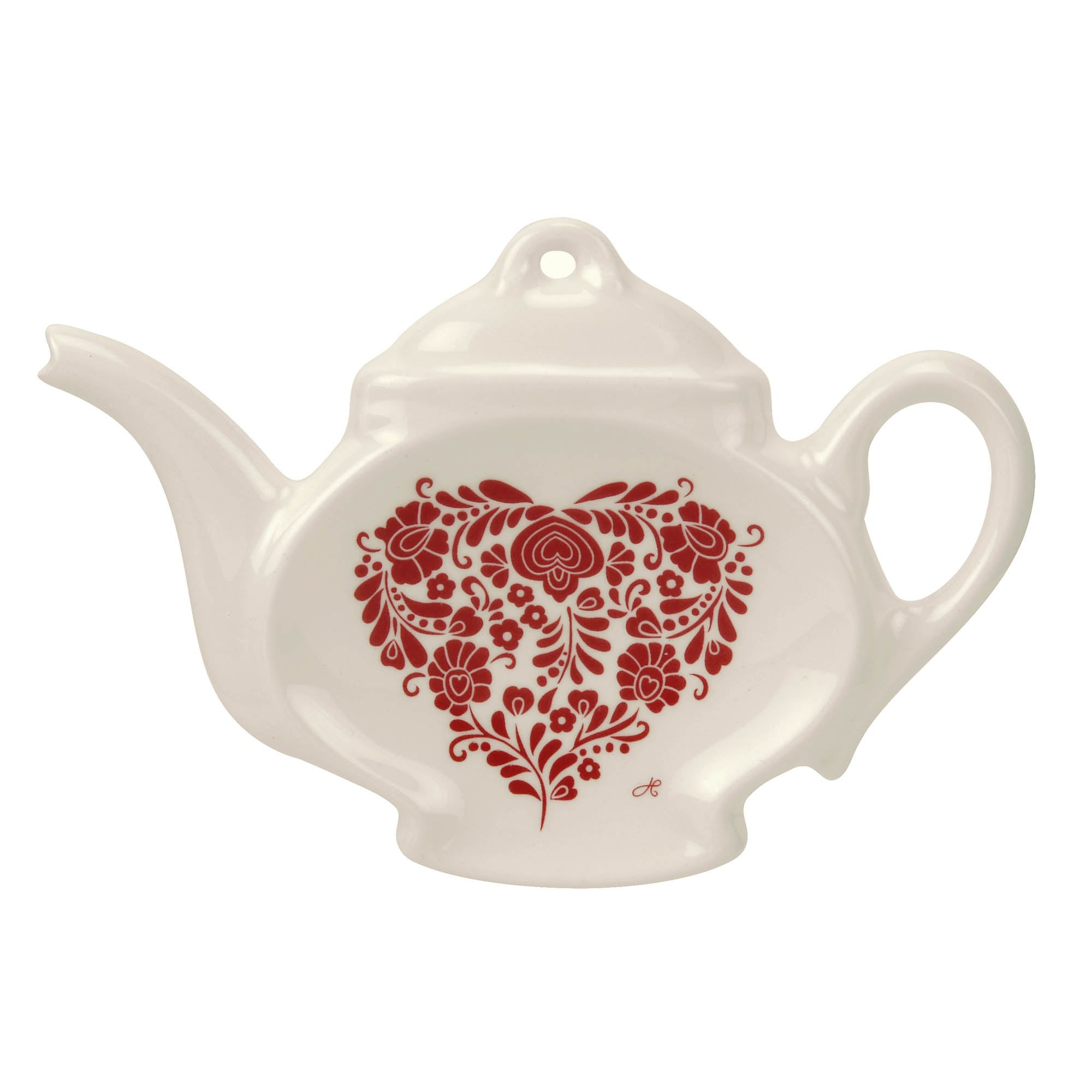Photo of Jan constantine made by portmeirion heart red tea bag tidy red