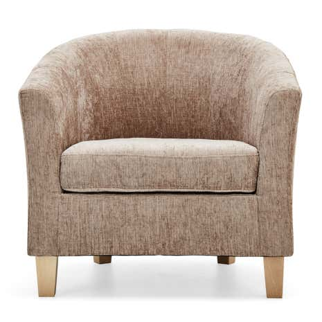 Maxwell Mink Tub Chair | Dunelm