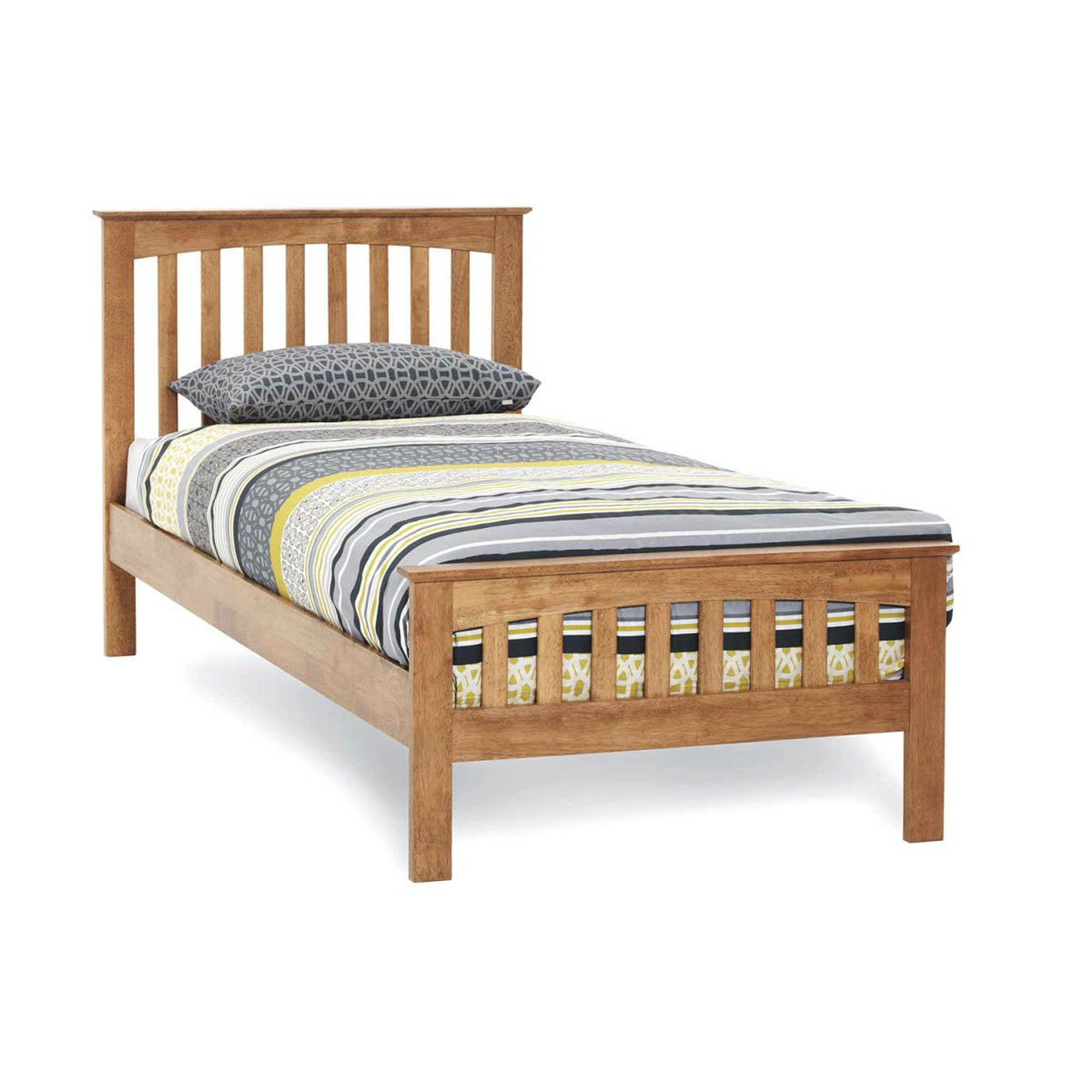 Amelia Hevea Honey Oak Bedstead Honey (Brown)
