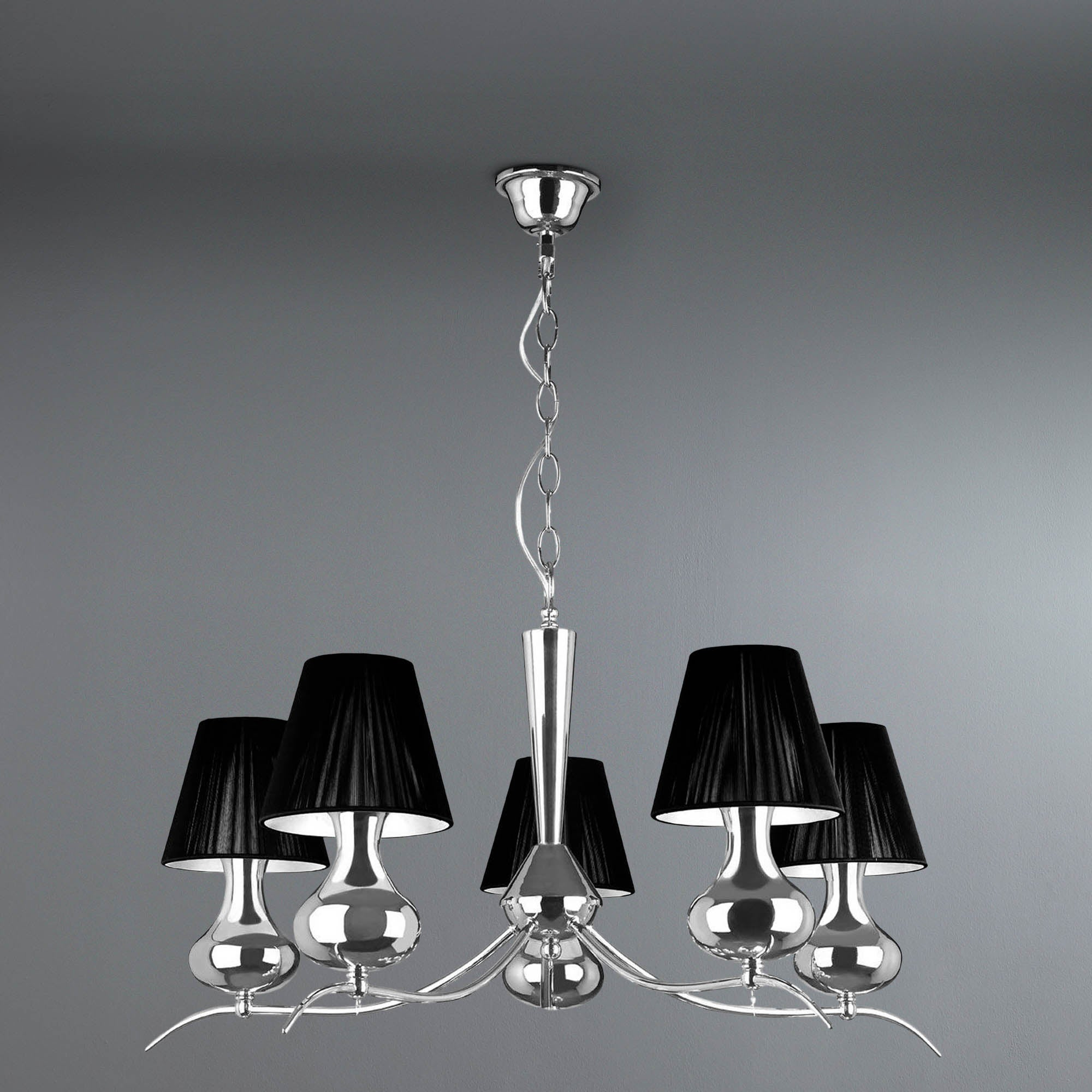 Photo of Nell 5 light pendant black
