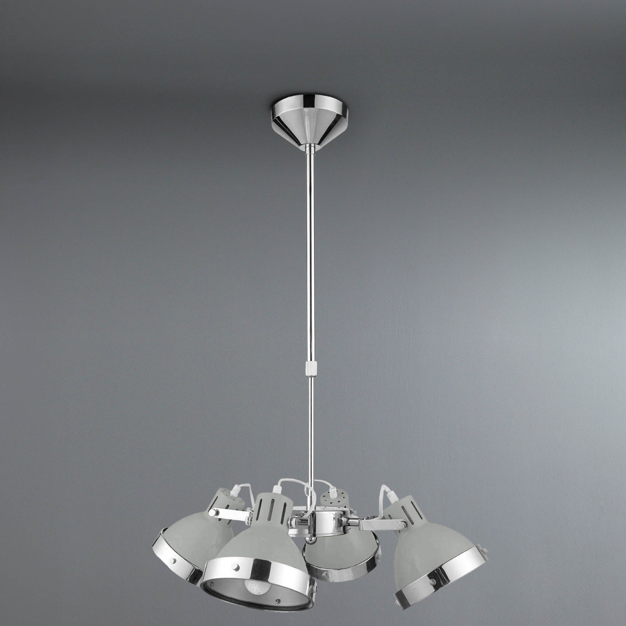 Photo of Premier light grey 4 light pendant light grey
