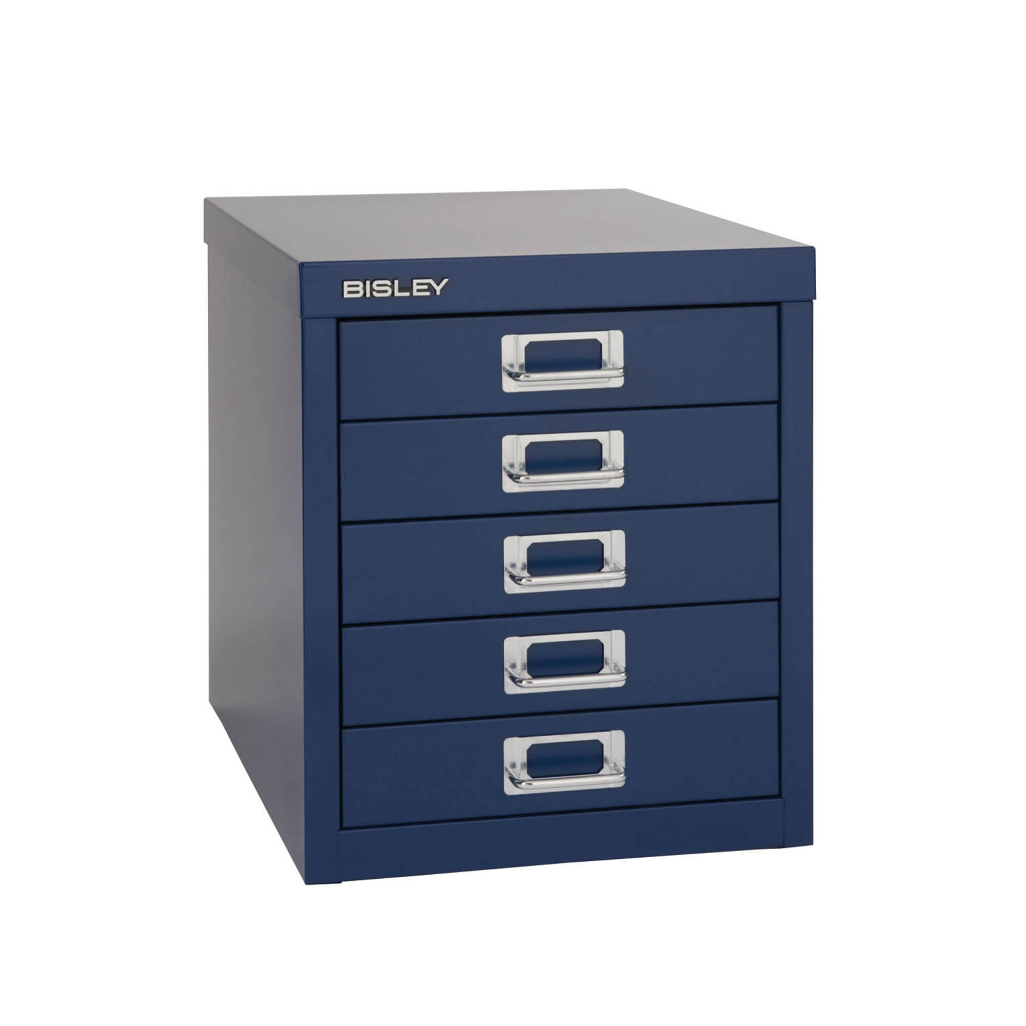 Bisley Metal 5 Drawer Filing Cabinet Navy (Blue)
