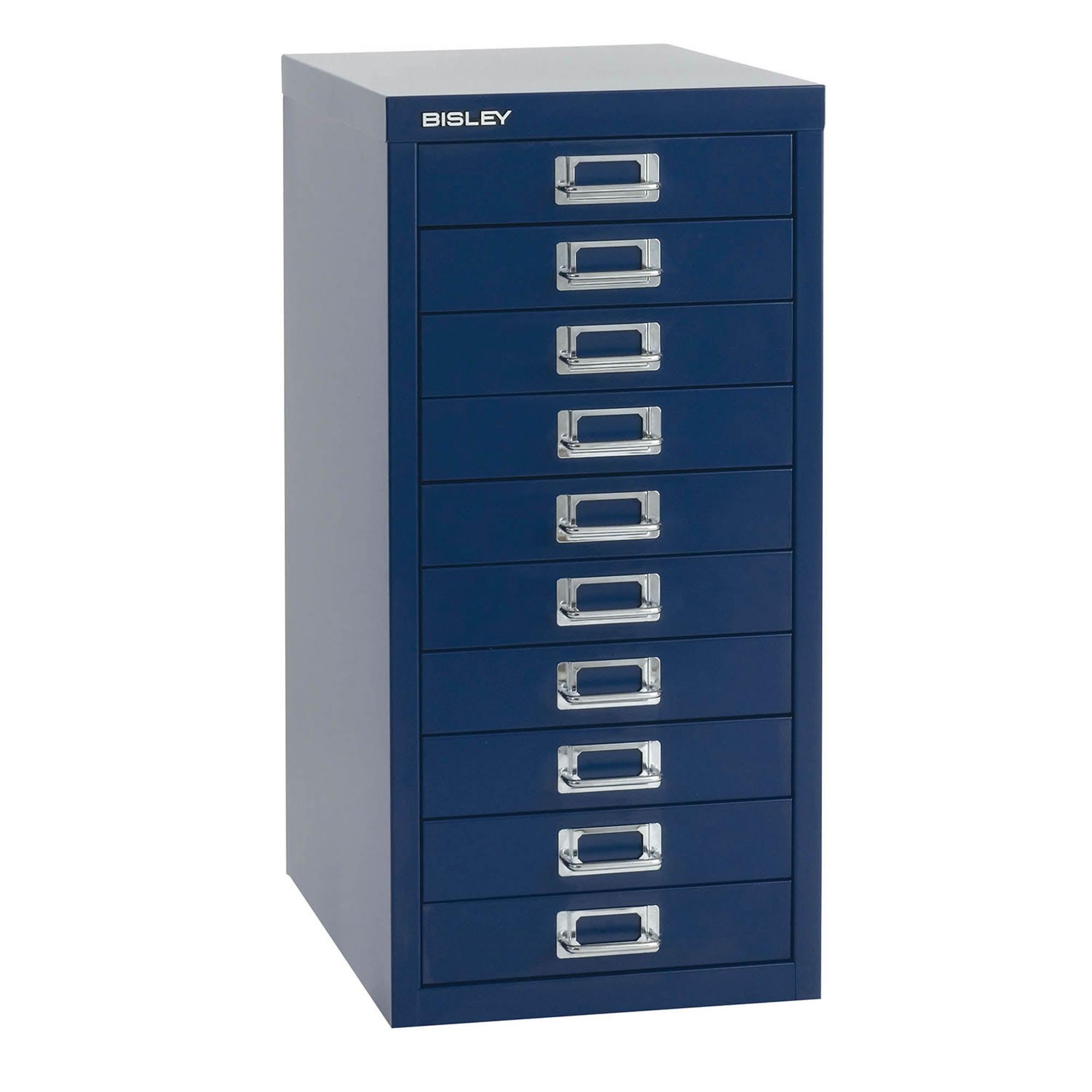Bisley Metal 10 Drawer Filing Cabinet Navy (Blue)