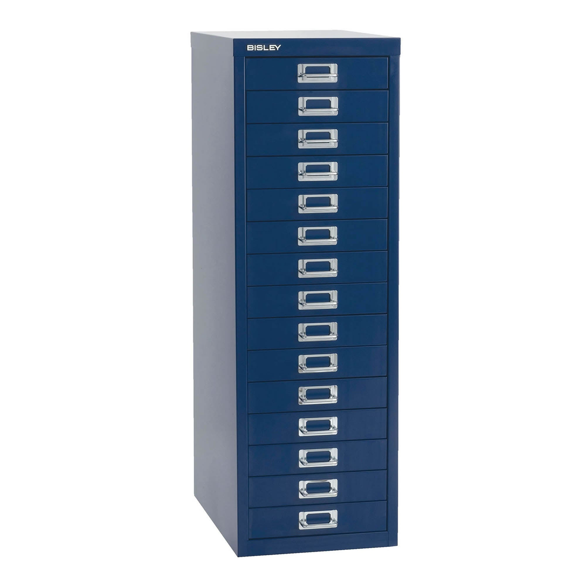 Bisley Metal 15 Drawer Filing Cabinet Navy (Blue)
