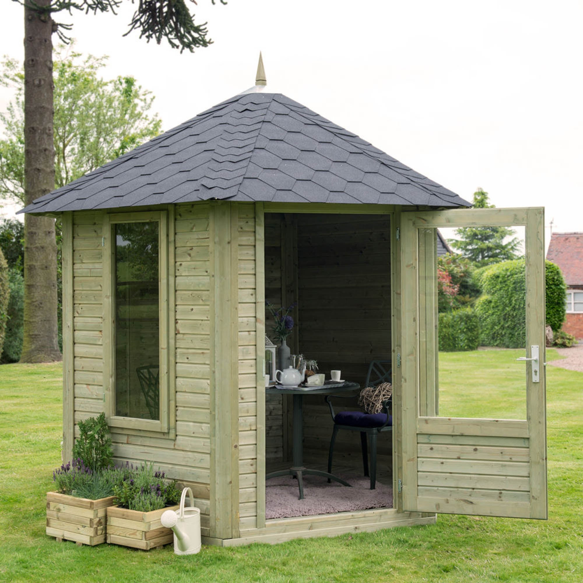 Image of 11ft x 9ft Henley Summerhouse Natural