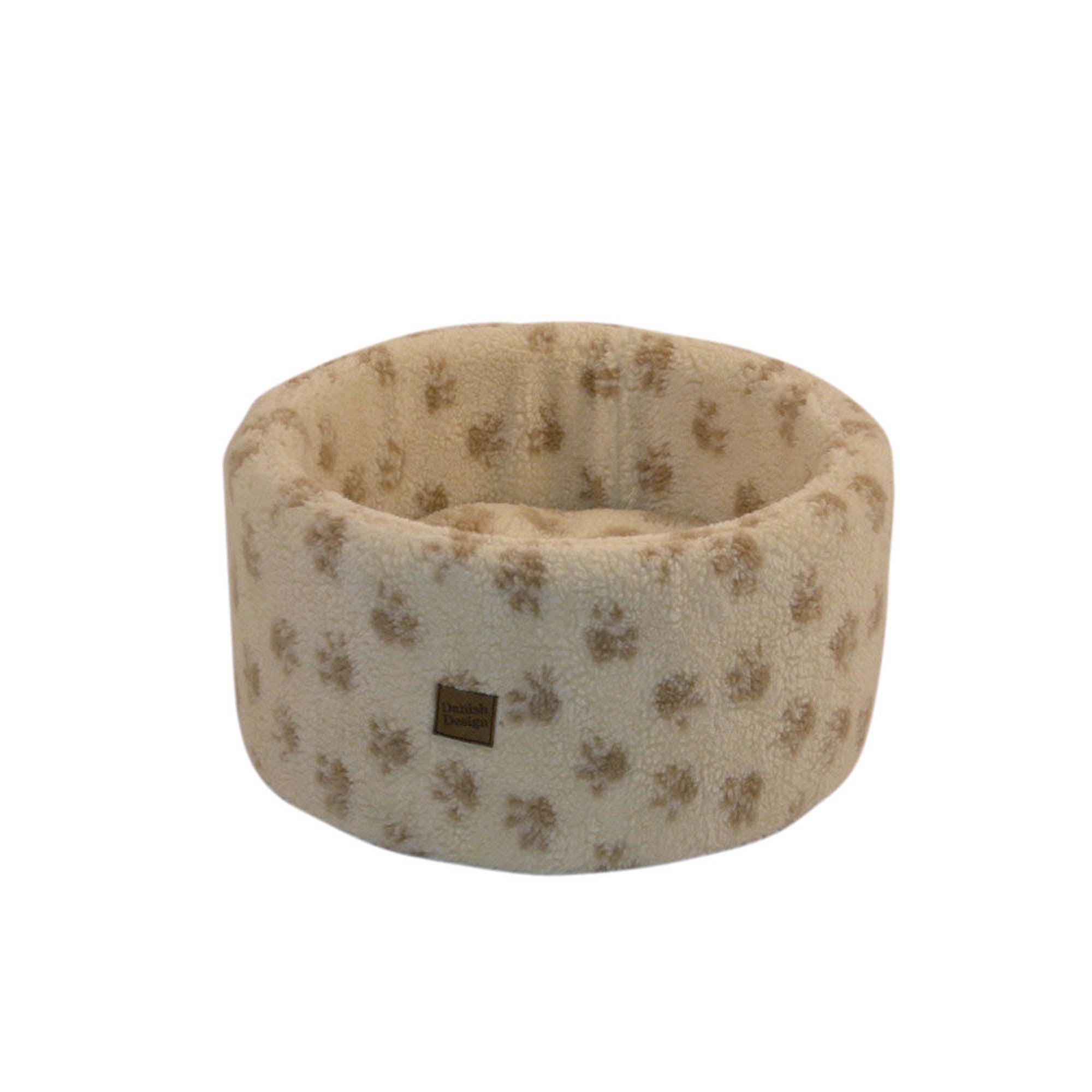Cream Cosy Cat Bed Cream / Brown