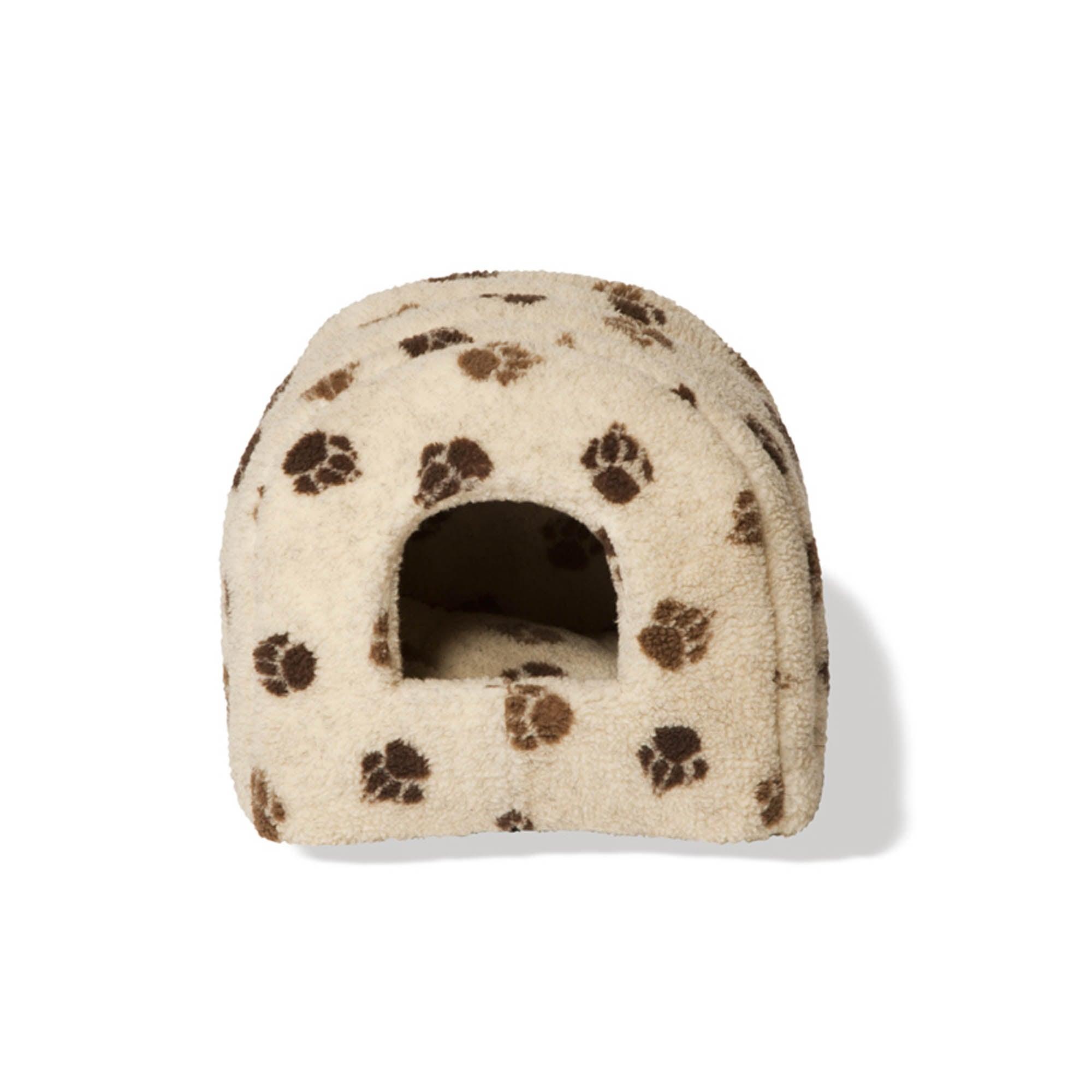 Fleece Cat Igloo Cream / Brown
