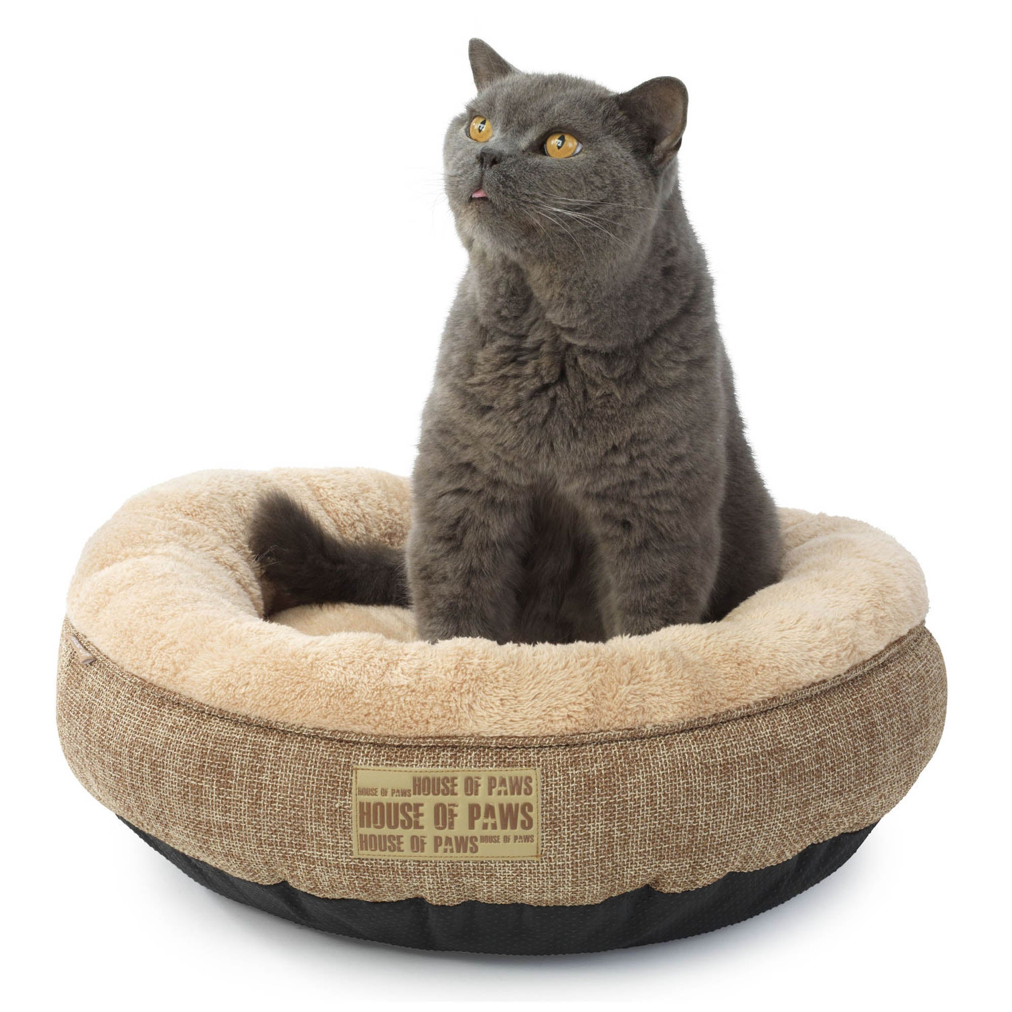 Hessian Cat Bed Brown