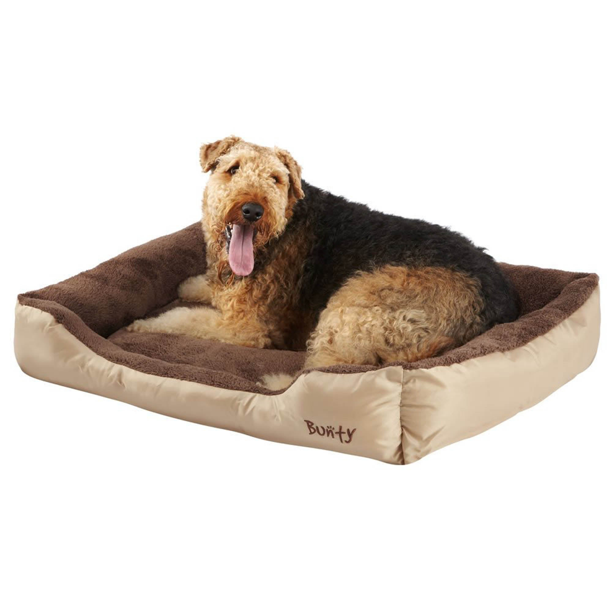 Bunty Cream Deluxe Dog Bed Natural