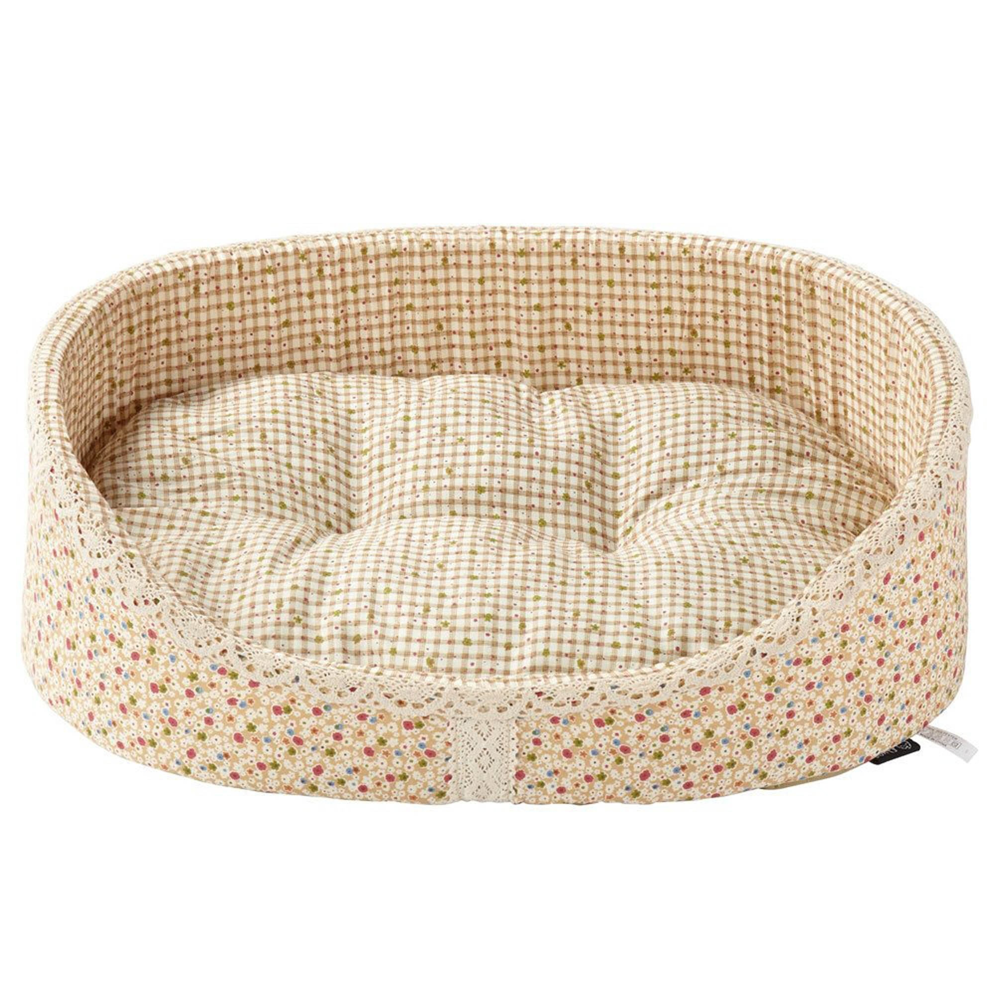 Bunty Cream Blossom Dog Bed Almond (Cream)