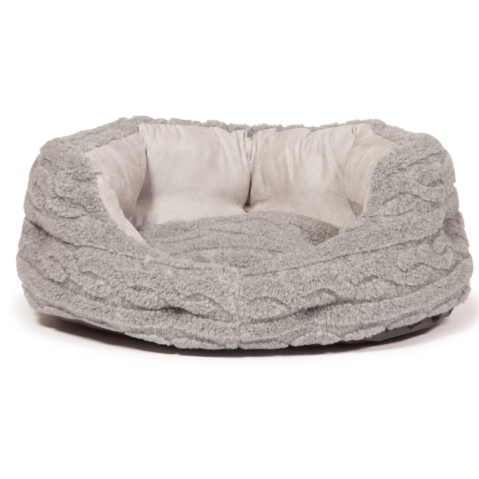 Bobble Grey Deluxe Dog Bed Grey