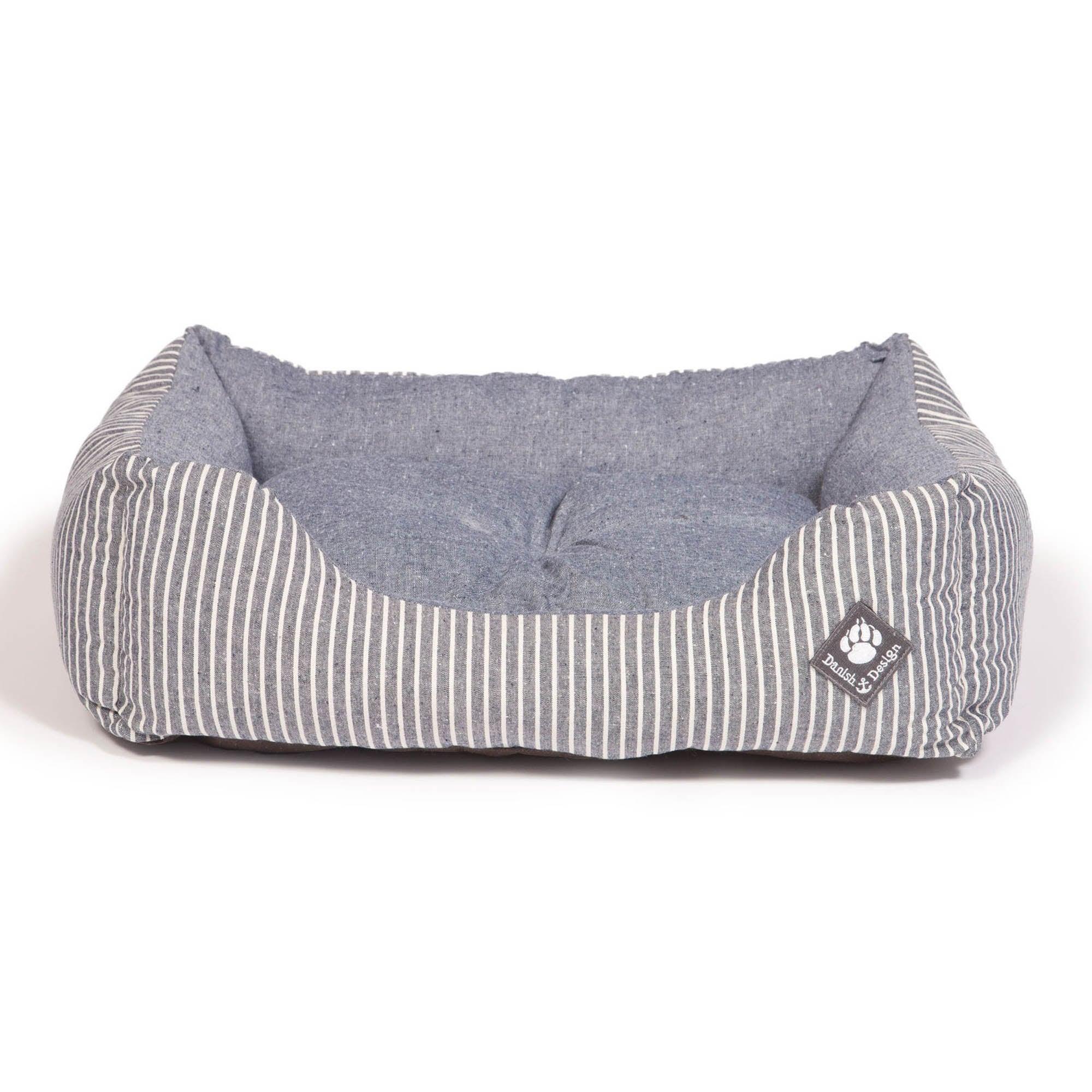 Blue Maritime Snuggle Dog Bed Mist (Blue)