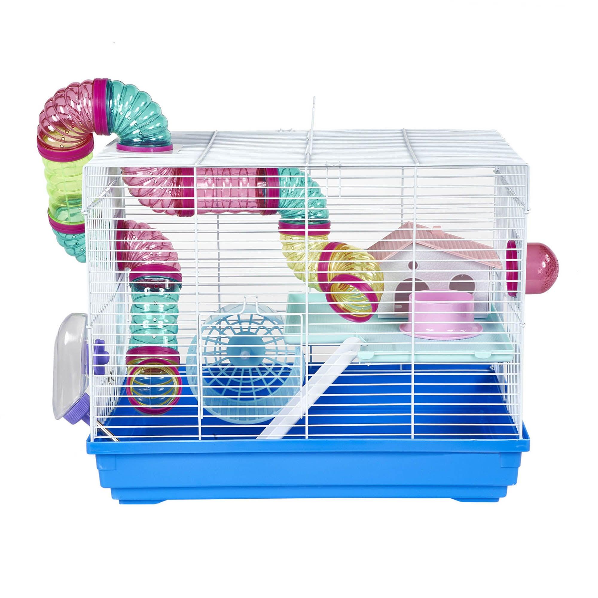 Hugo Blue Hamster Cage Kingfisher (Blue)