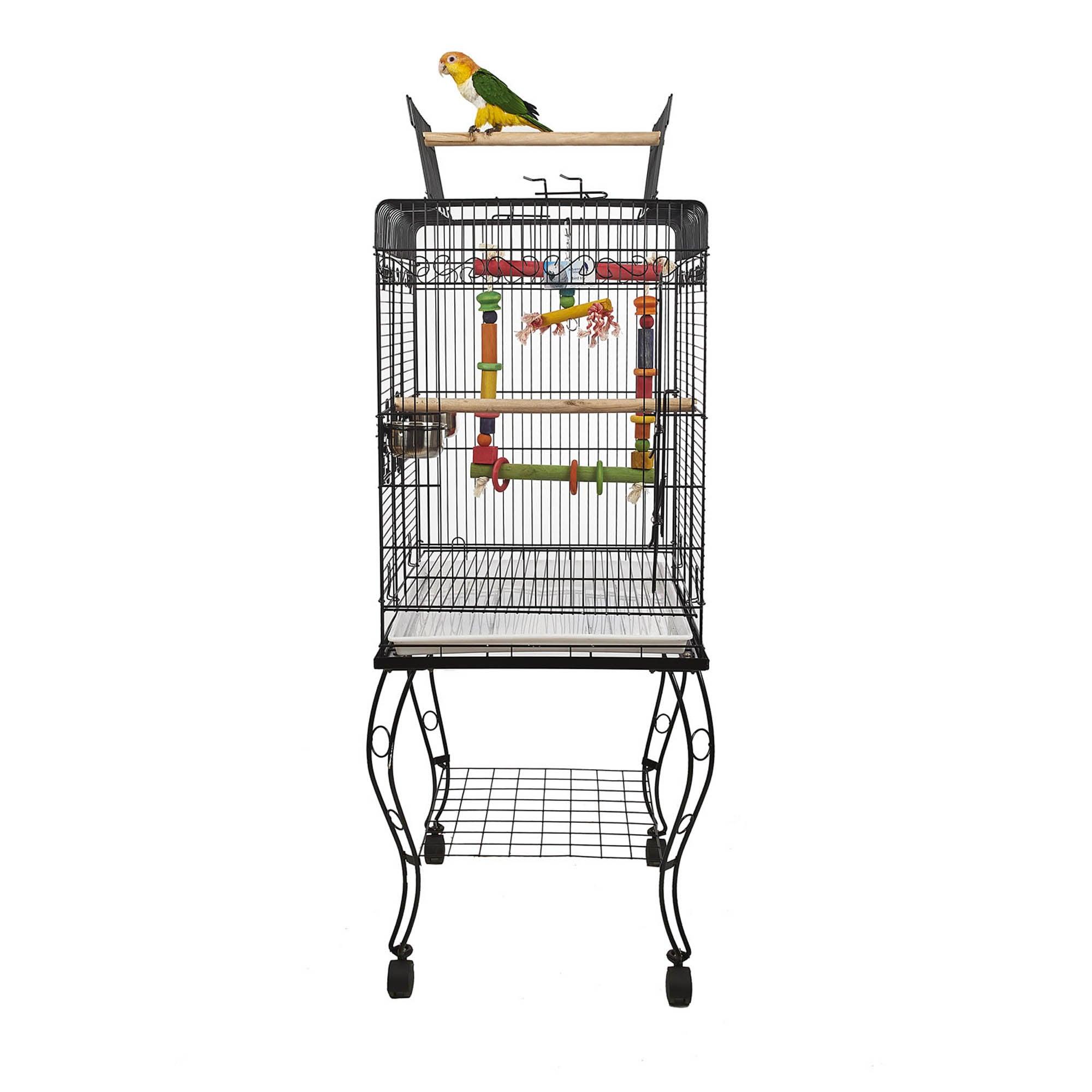 Birdie Parrot Cage Black