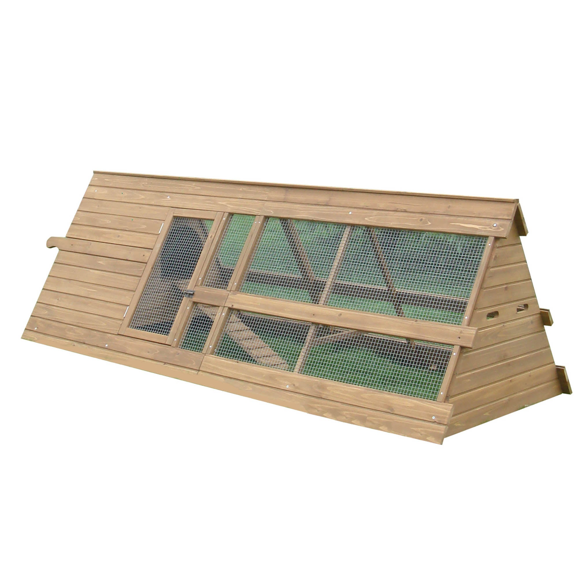 Small Chicken Coop with Run Pine (Brown)