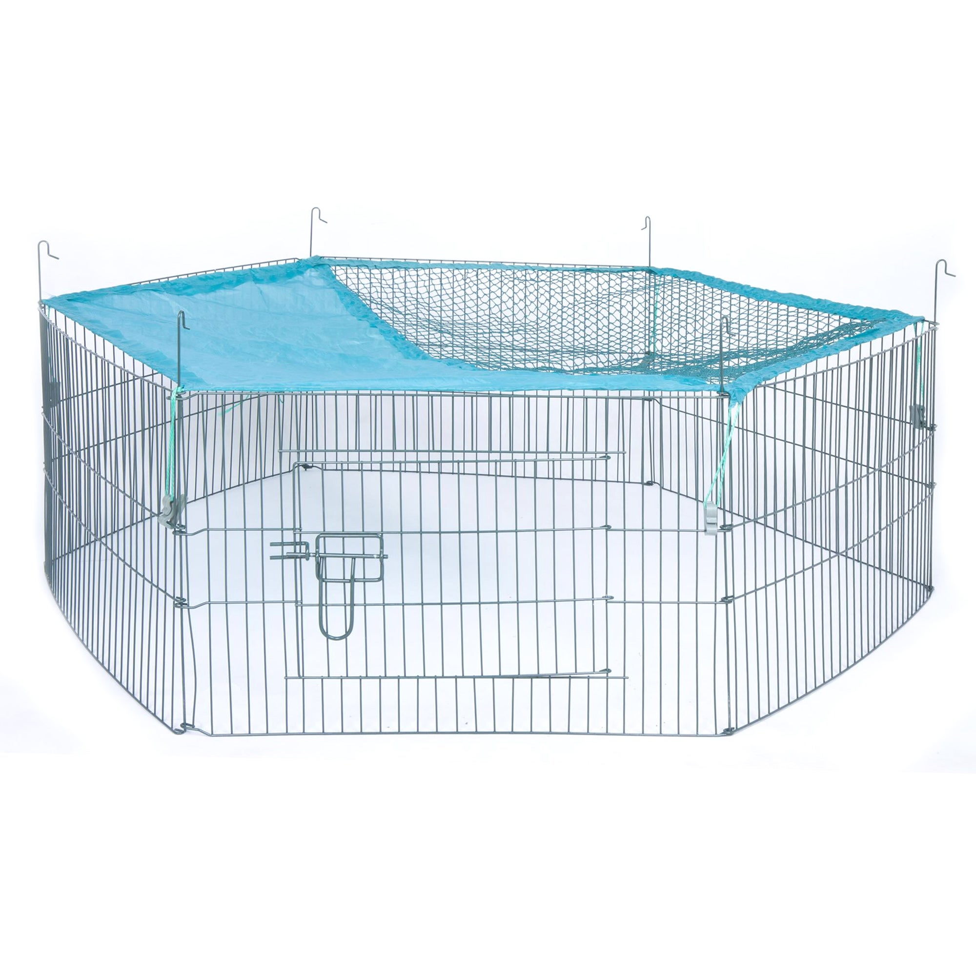 Large Animal Pen and Net Black