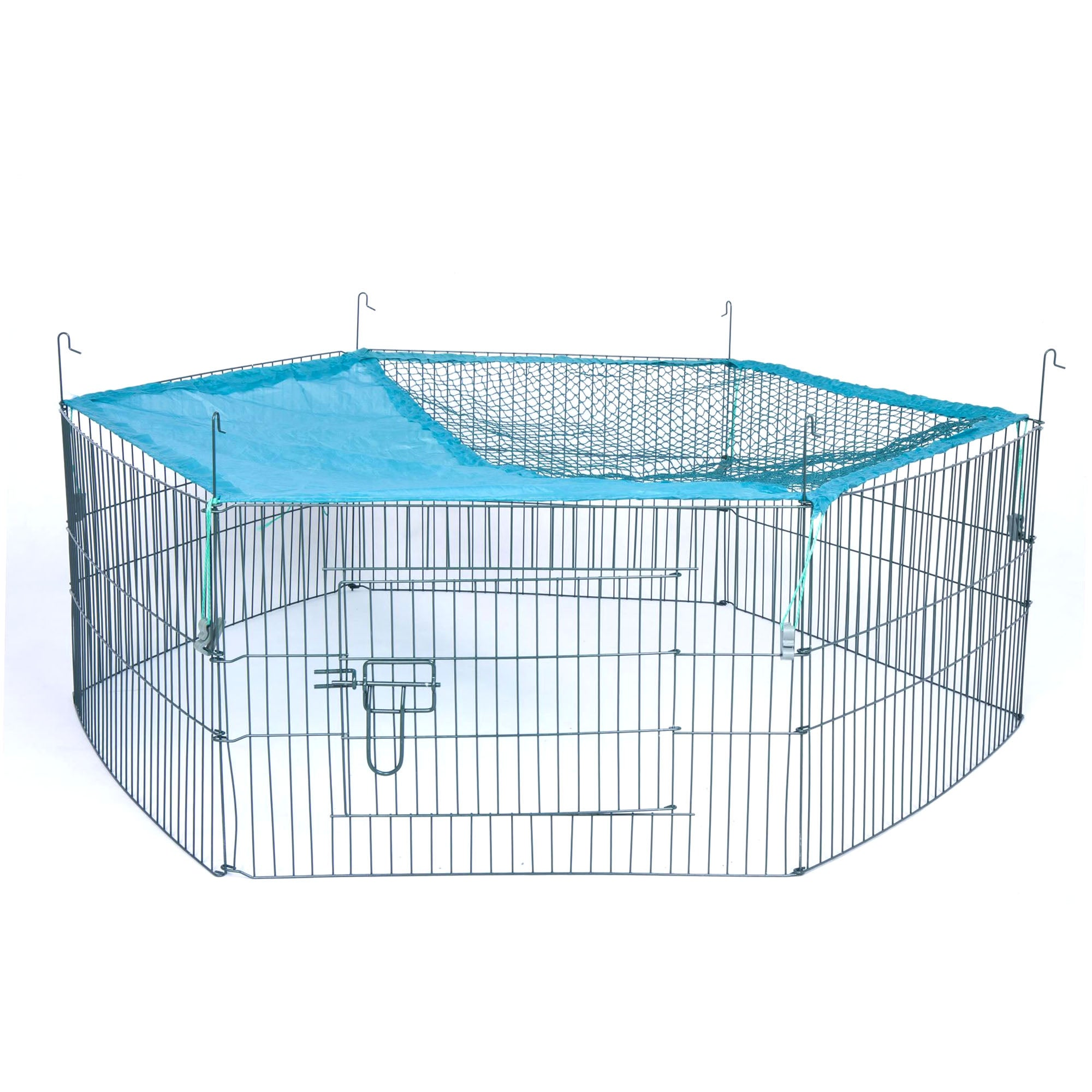 Small Animal Pen and Net Steel (Silver)