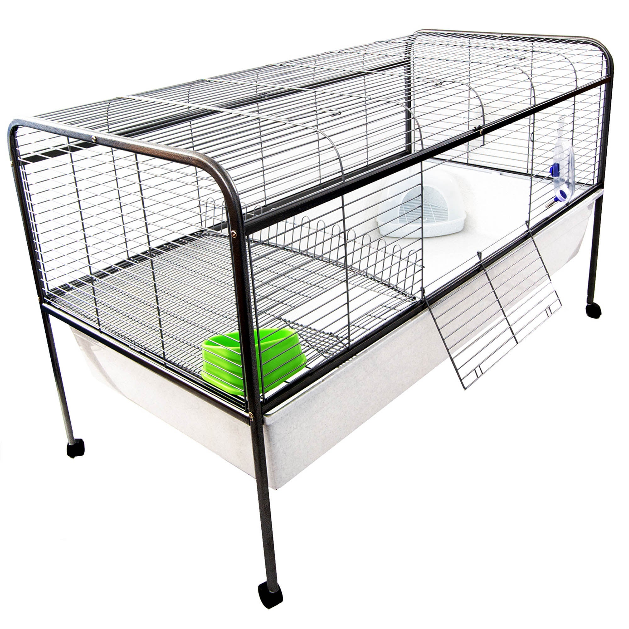 Extra Large Indoor Rabbit Cage Pebble (Grey)