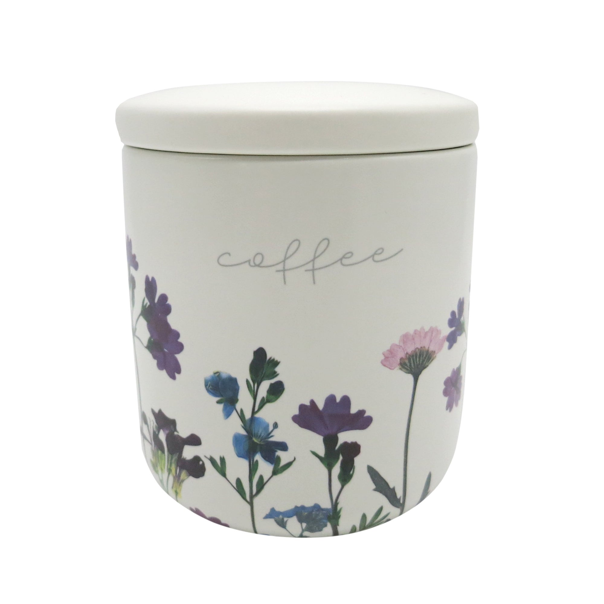 Image of Impressionist Flower Coffee Canister Multi Coloured