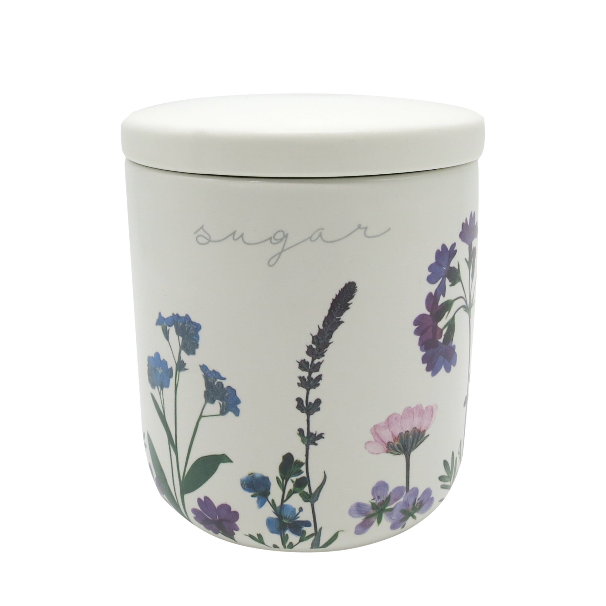 Image of Impressionist Flower Sugar Canister Multi Coloured