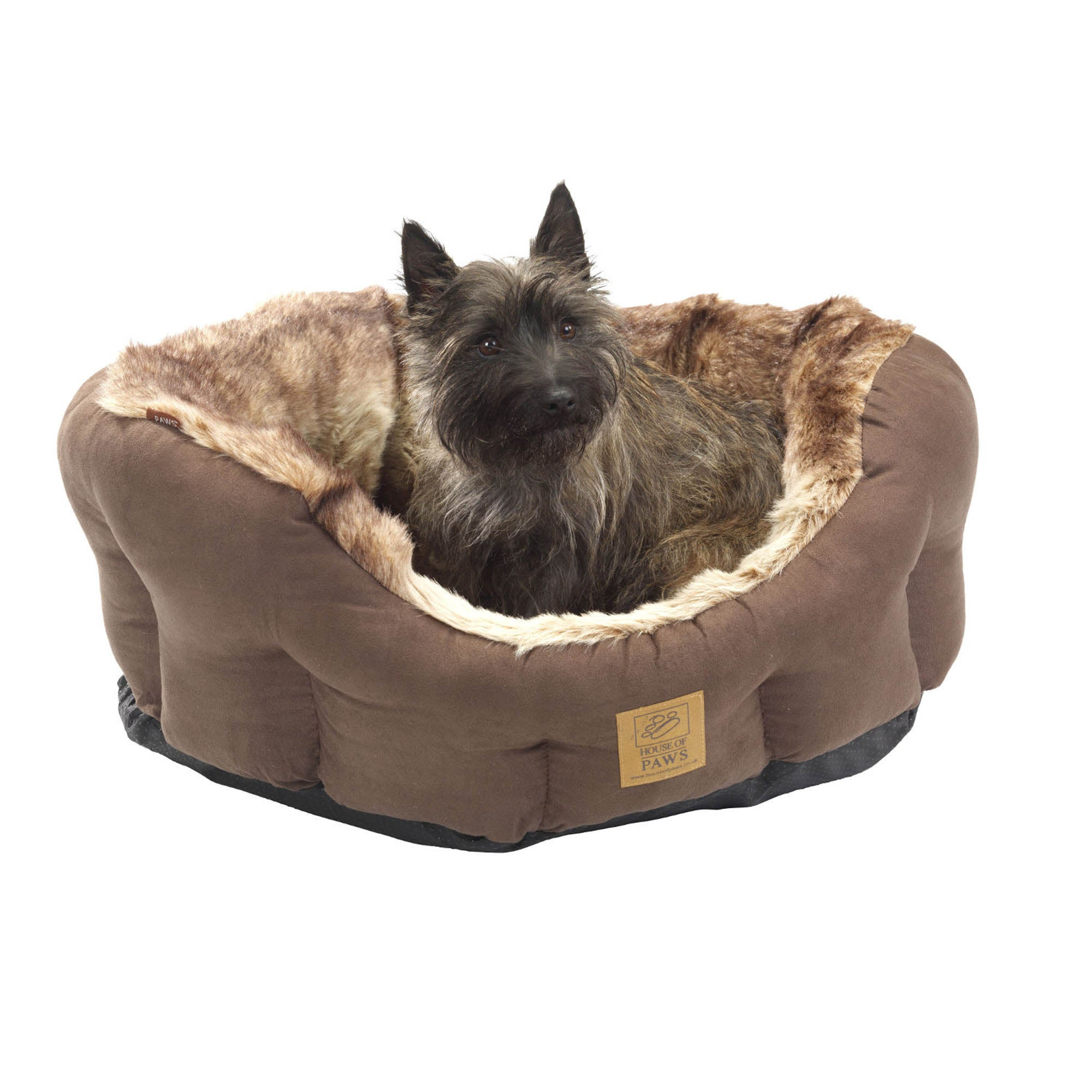 House of Paws Arctic Fox Dog Bed Sable (Brown)