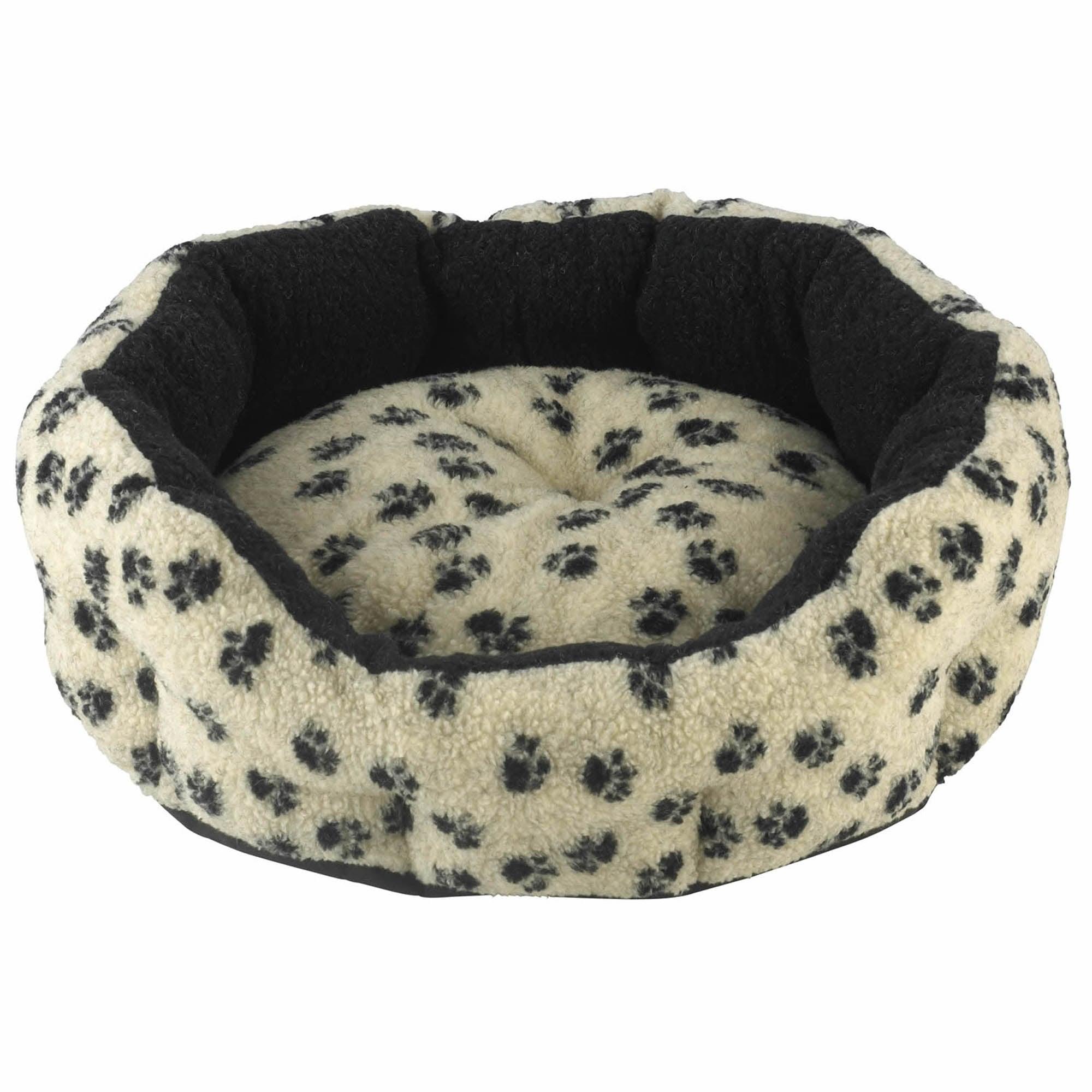 Cream Oval Dog Bed Cream (Natural)
