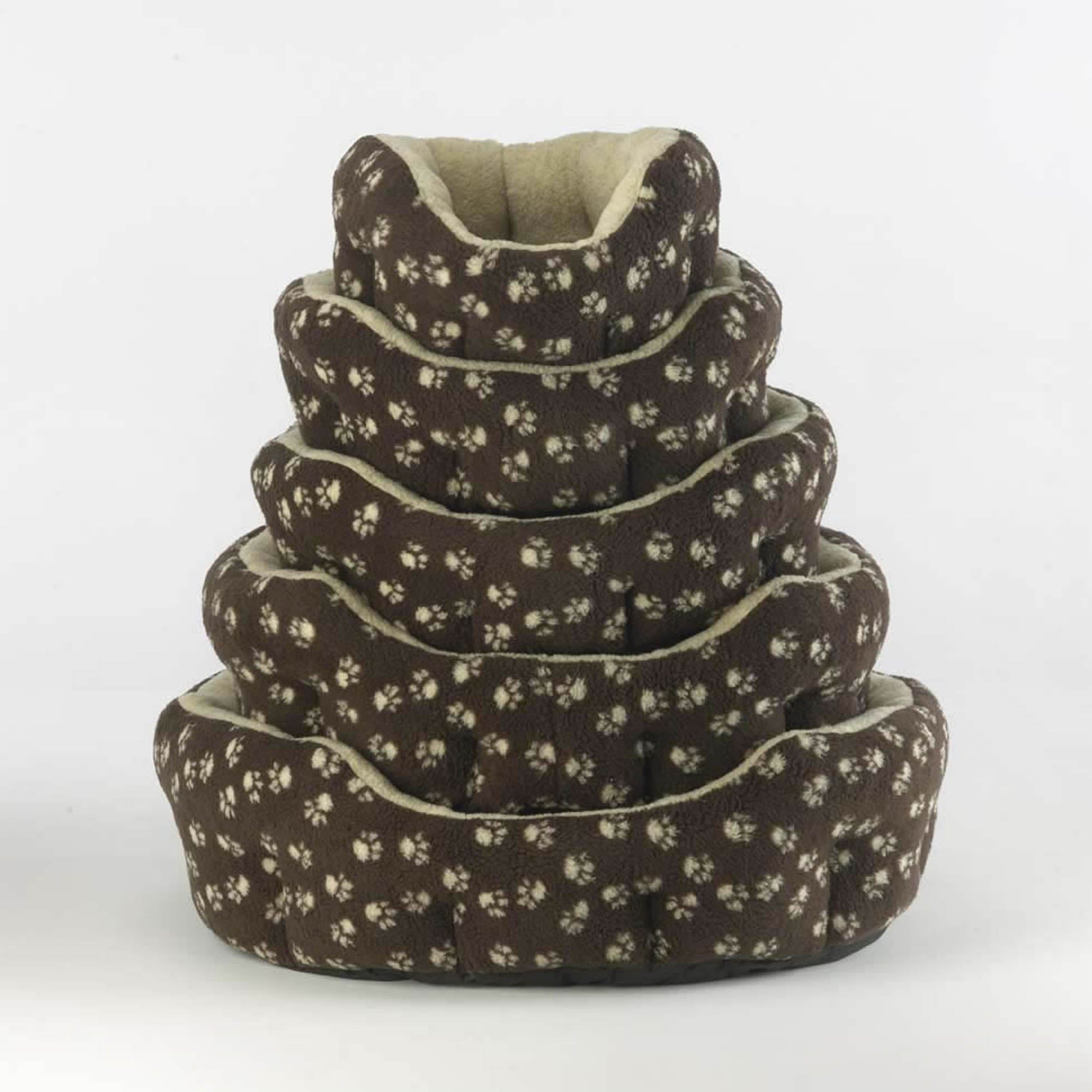 Brown Oval Dog Bed Sable (Brown)