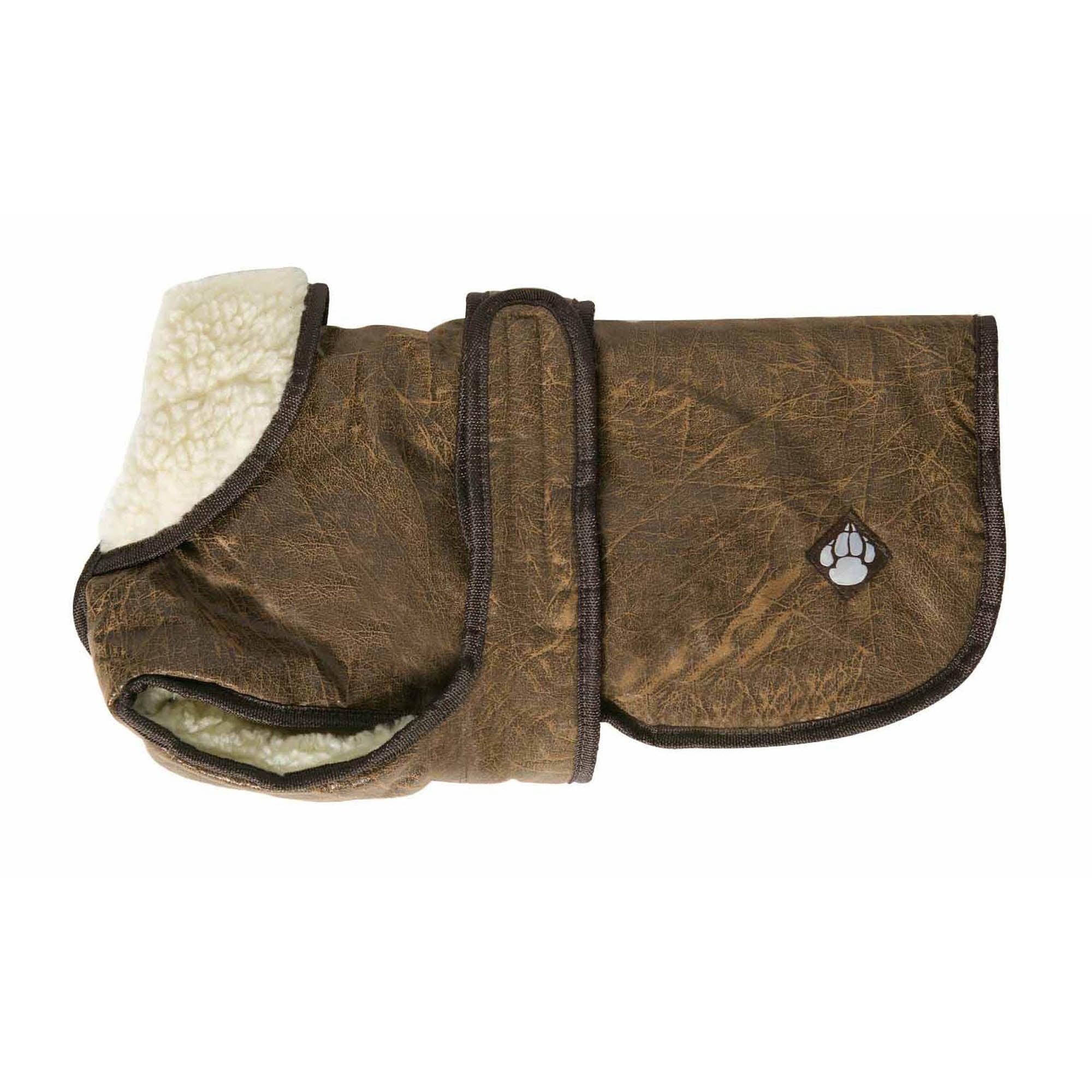 Waggles Dog Coat Brown