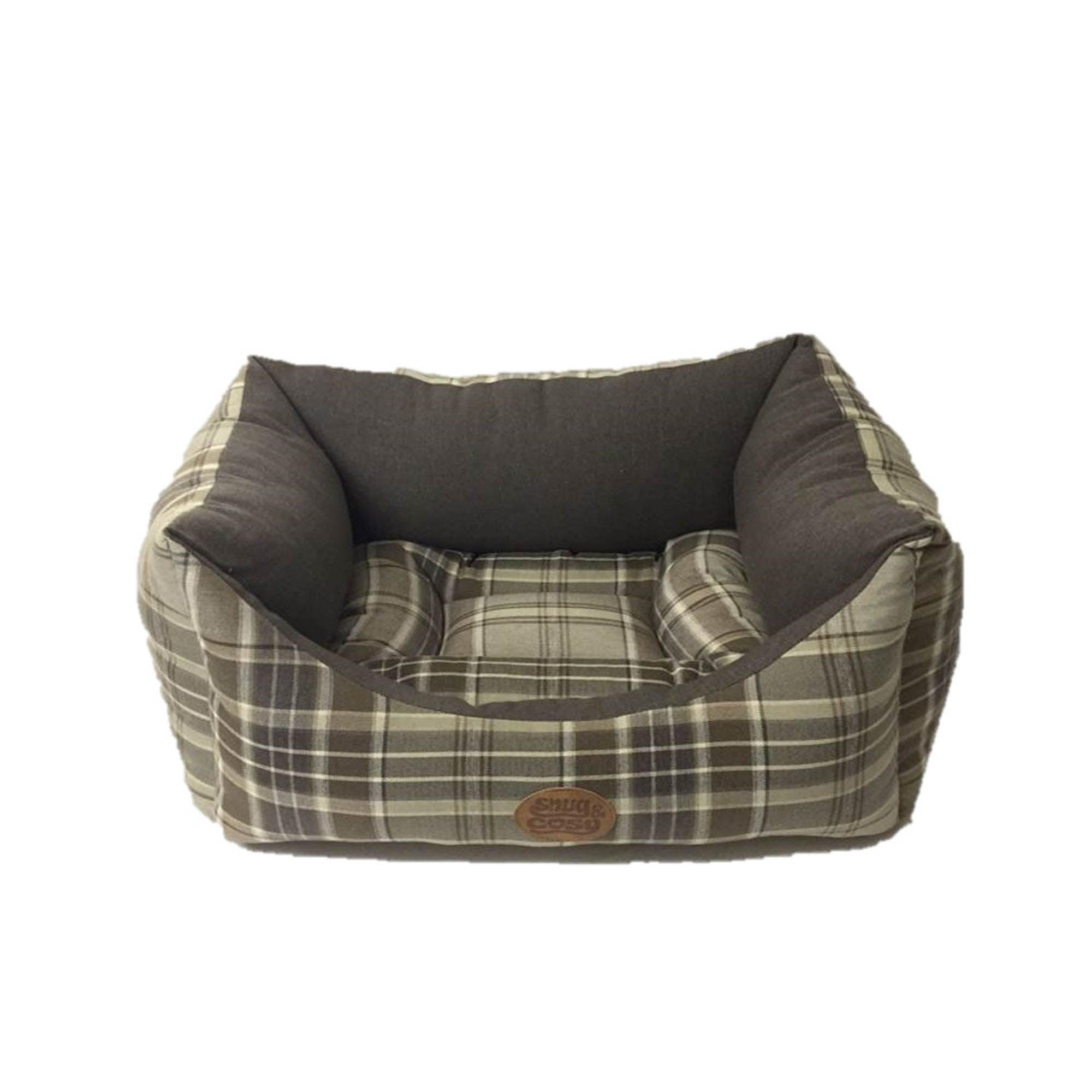 Mayfair Green Check Dog Bed Palo Verdi (Green)