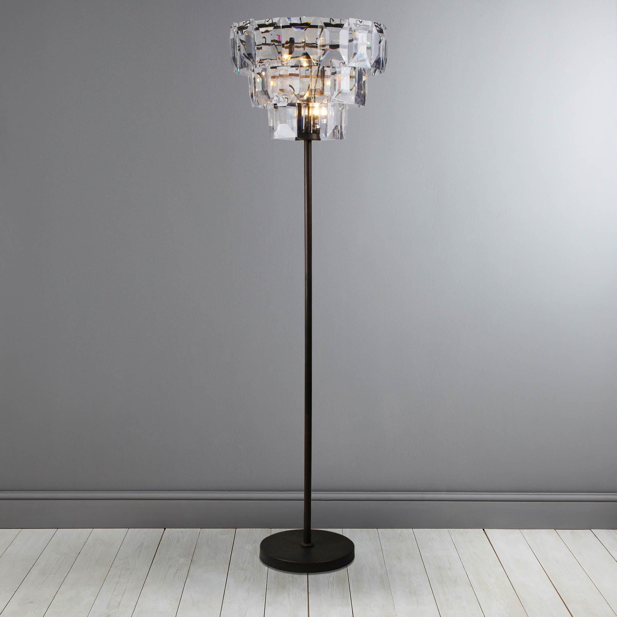 Photo of Claro bronze 3 tier floor lamp bronze