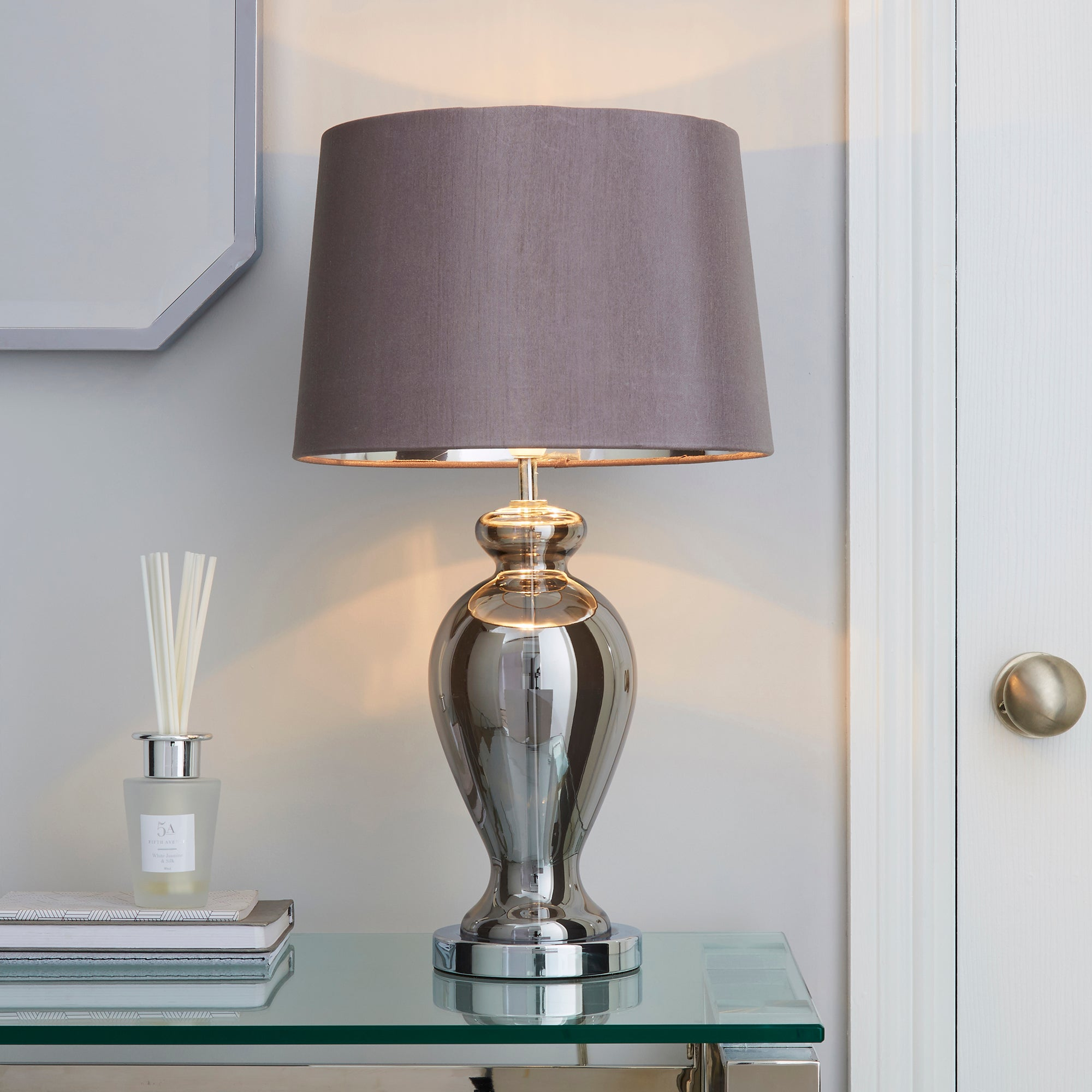 Photo of Sinton chrome urn table lamp chrome