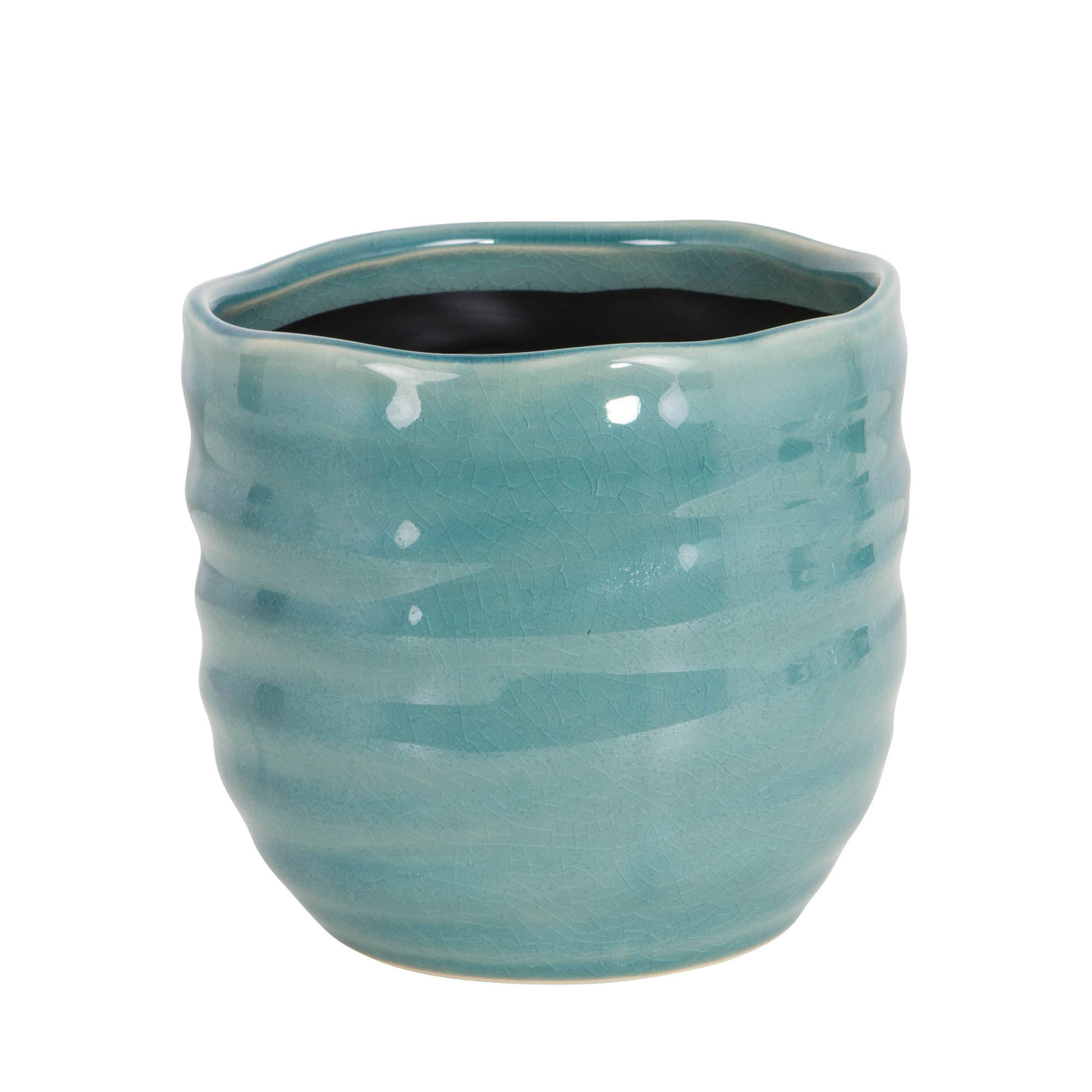 Image of Green Ceramic Plant Pot Green