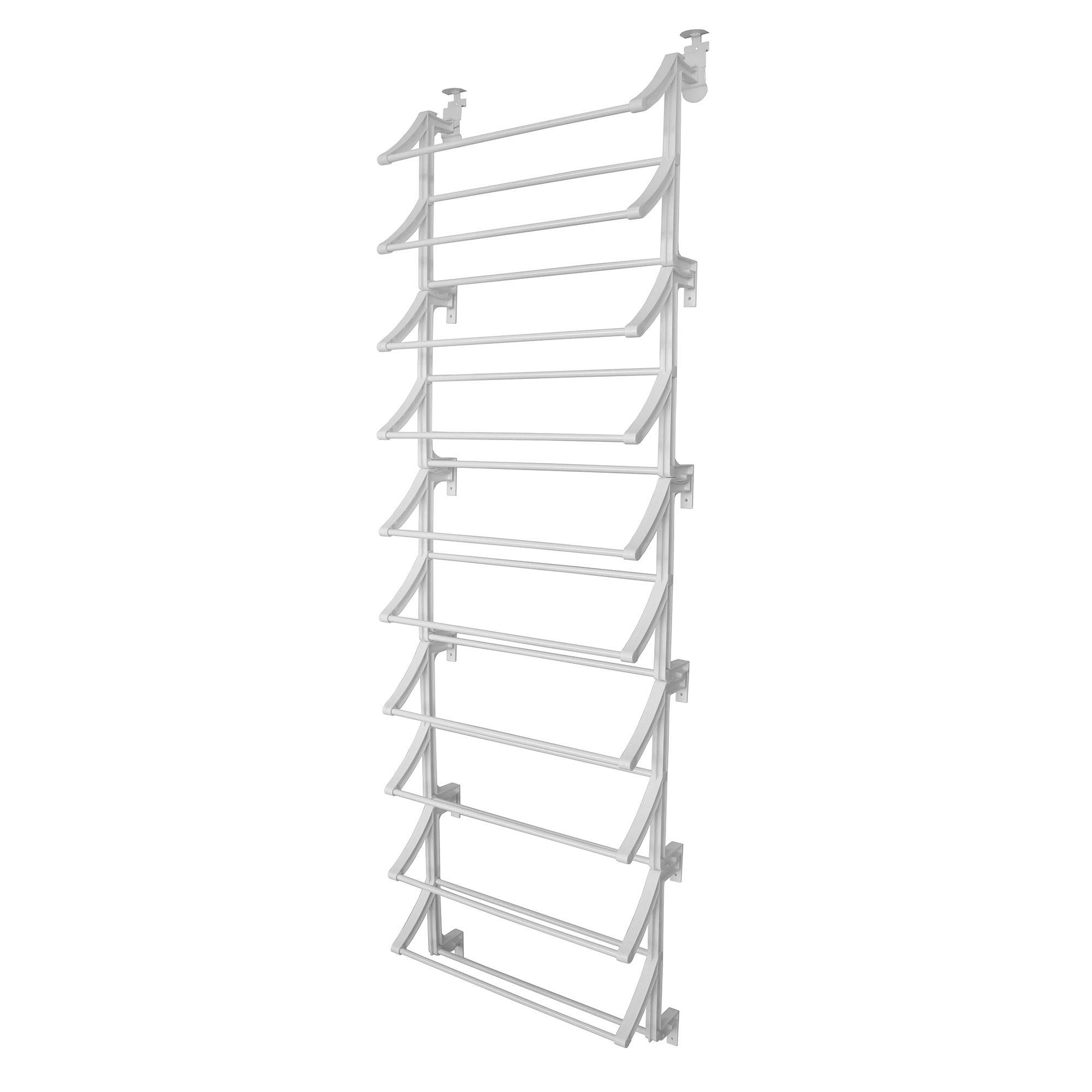 Image of 10 Tier Over Door White Shoe Rack White