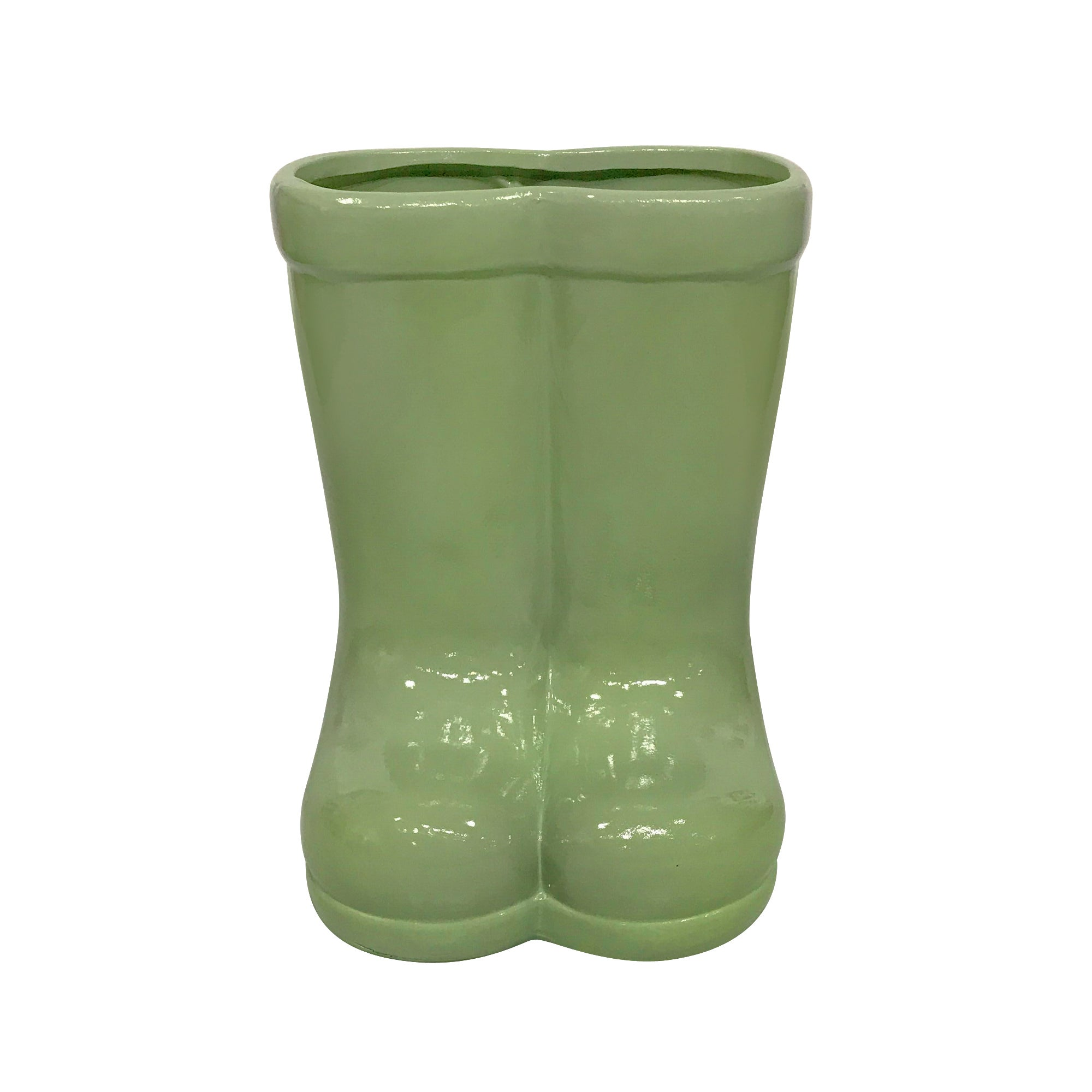 Image of Sage Ceramic Welly Boot Planter Sage (Green)