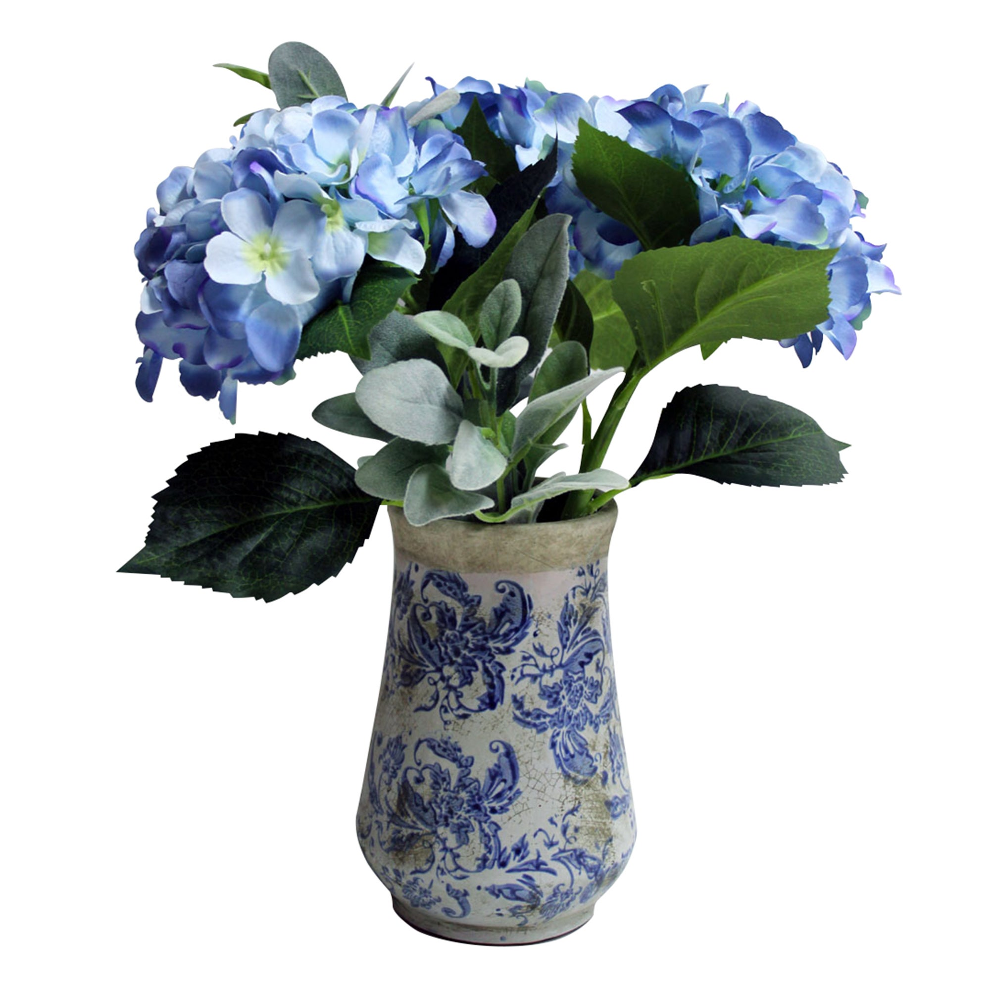 Image of Dorma Hydrangeas in Vase Blue