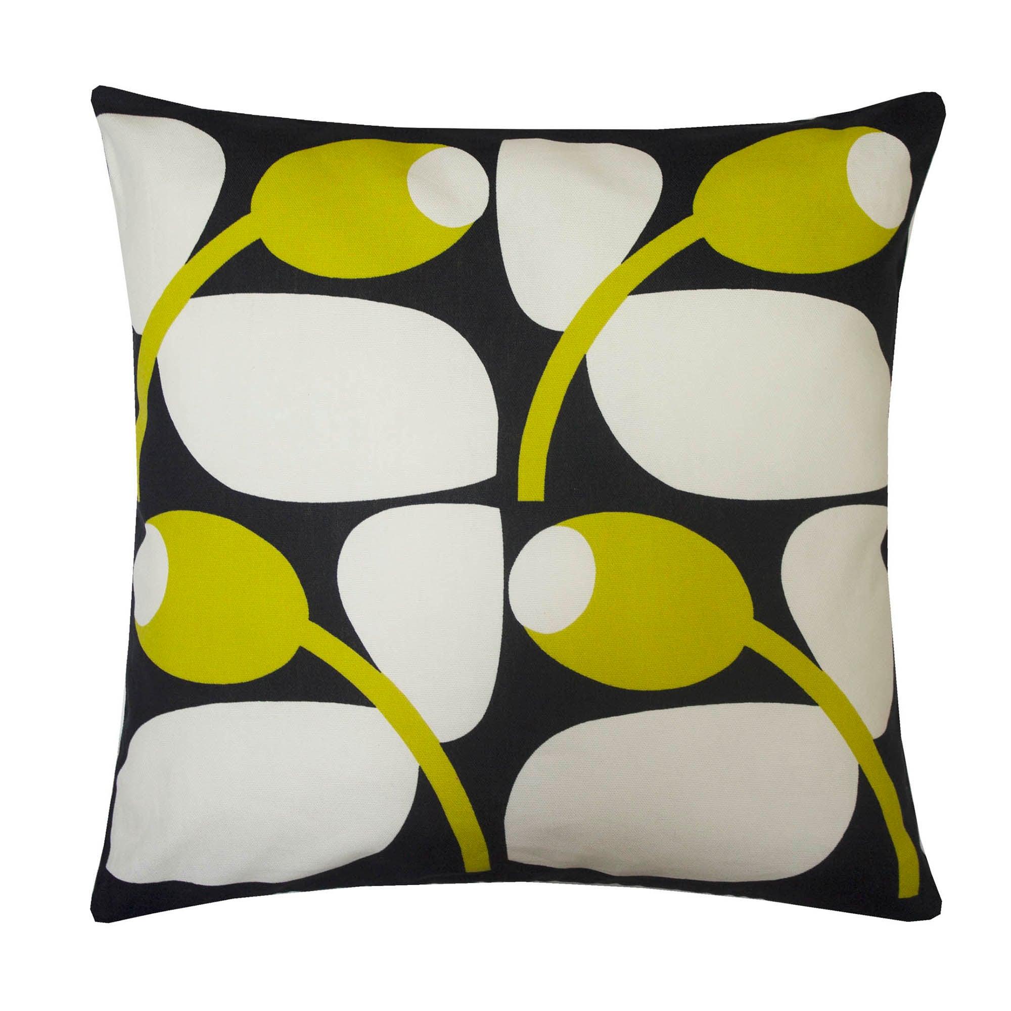 Image of Olive and Orange Olive Sunflower Cushion Sunflower
