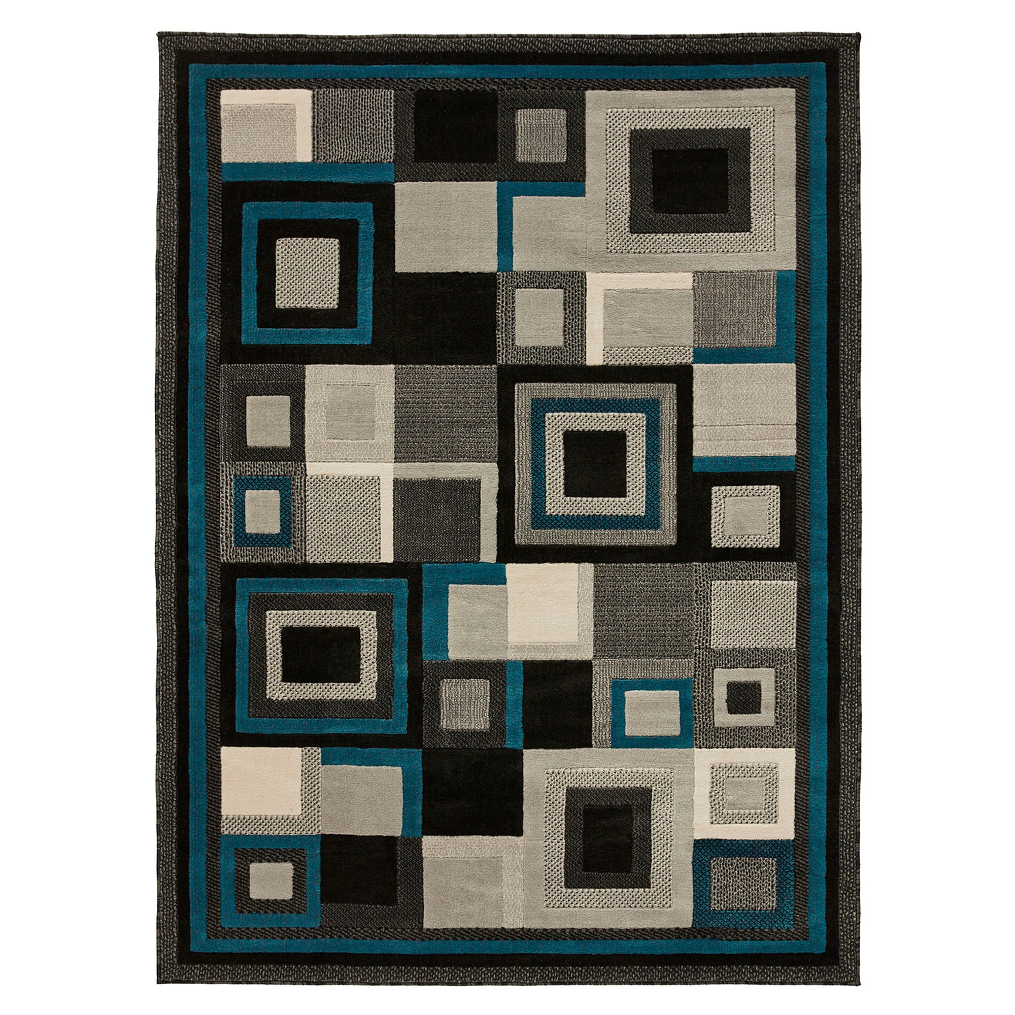 Photo of Black and blue hudson 3222 rug blue