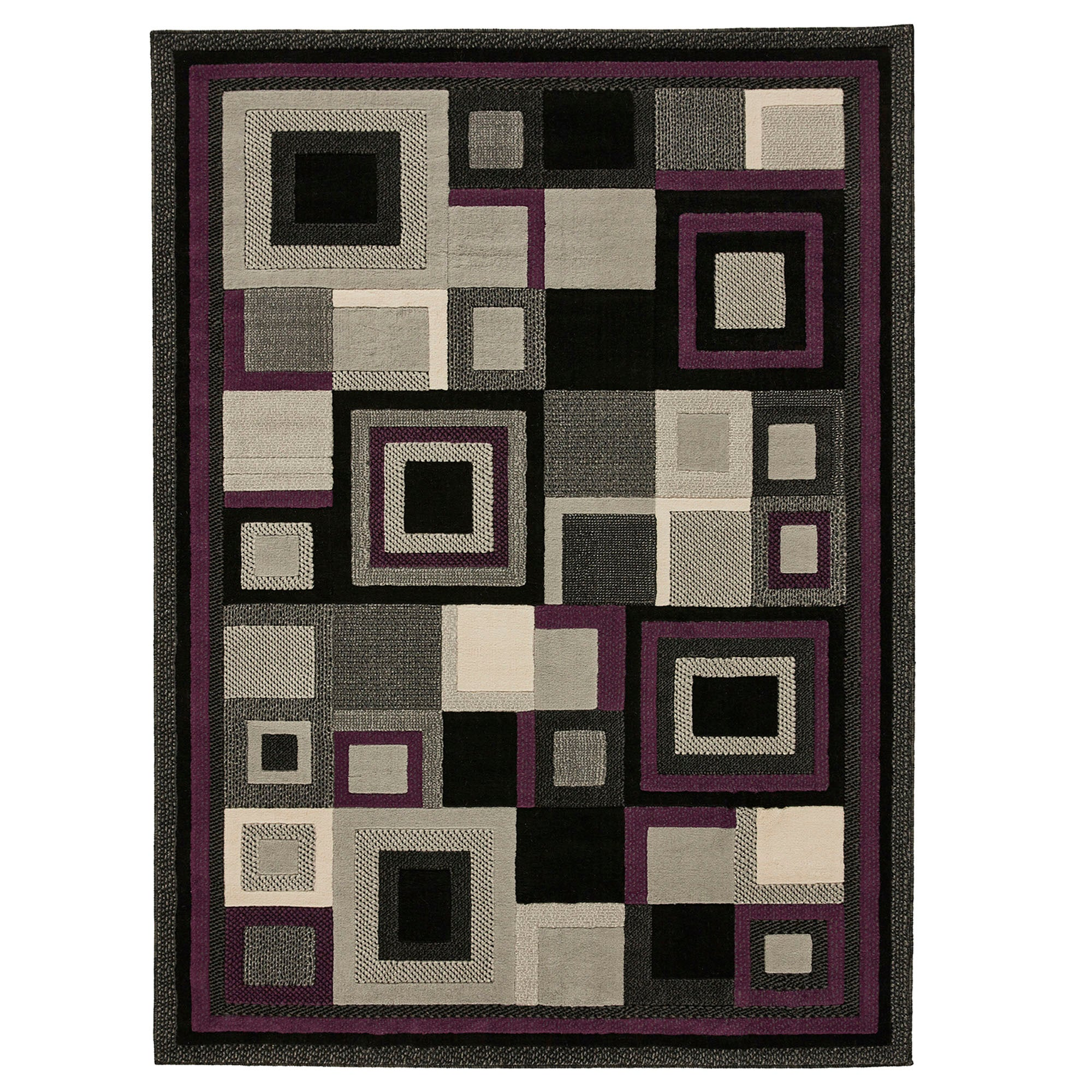 Photo of Black and purple hudson 3222 rug purple